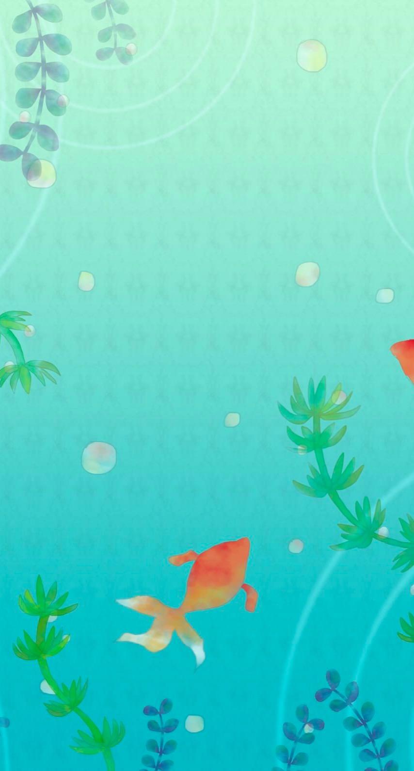 金魚イラスト Wallpapersc Iphone6s壁紙