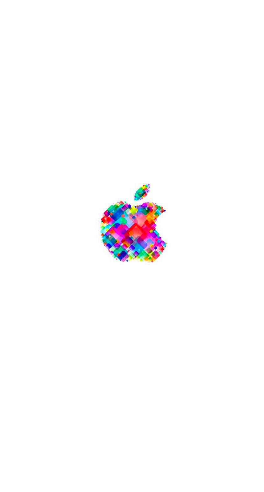 Appleロゴポップカラフル白 Wallpaper Sc Iphone6s壁紙