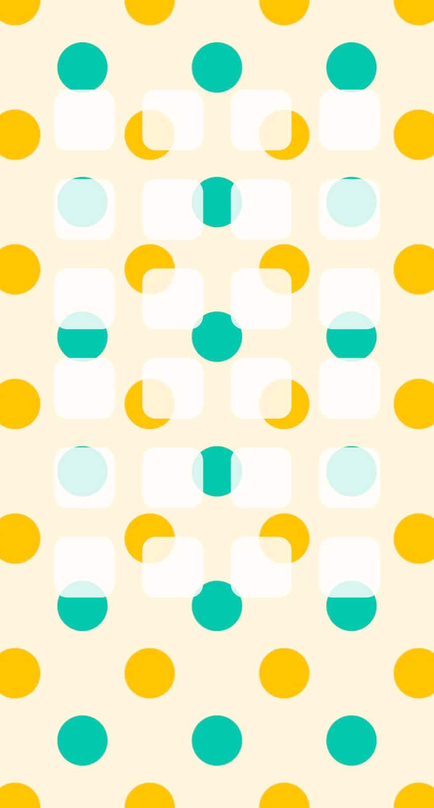 水玉緑橙可愛い棚 Wallpaper Sc Iphone6s壁紙