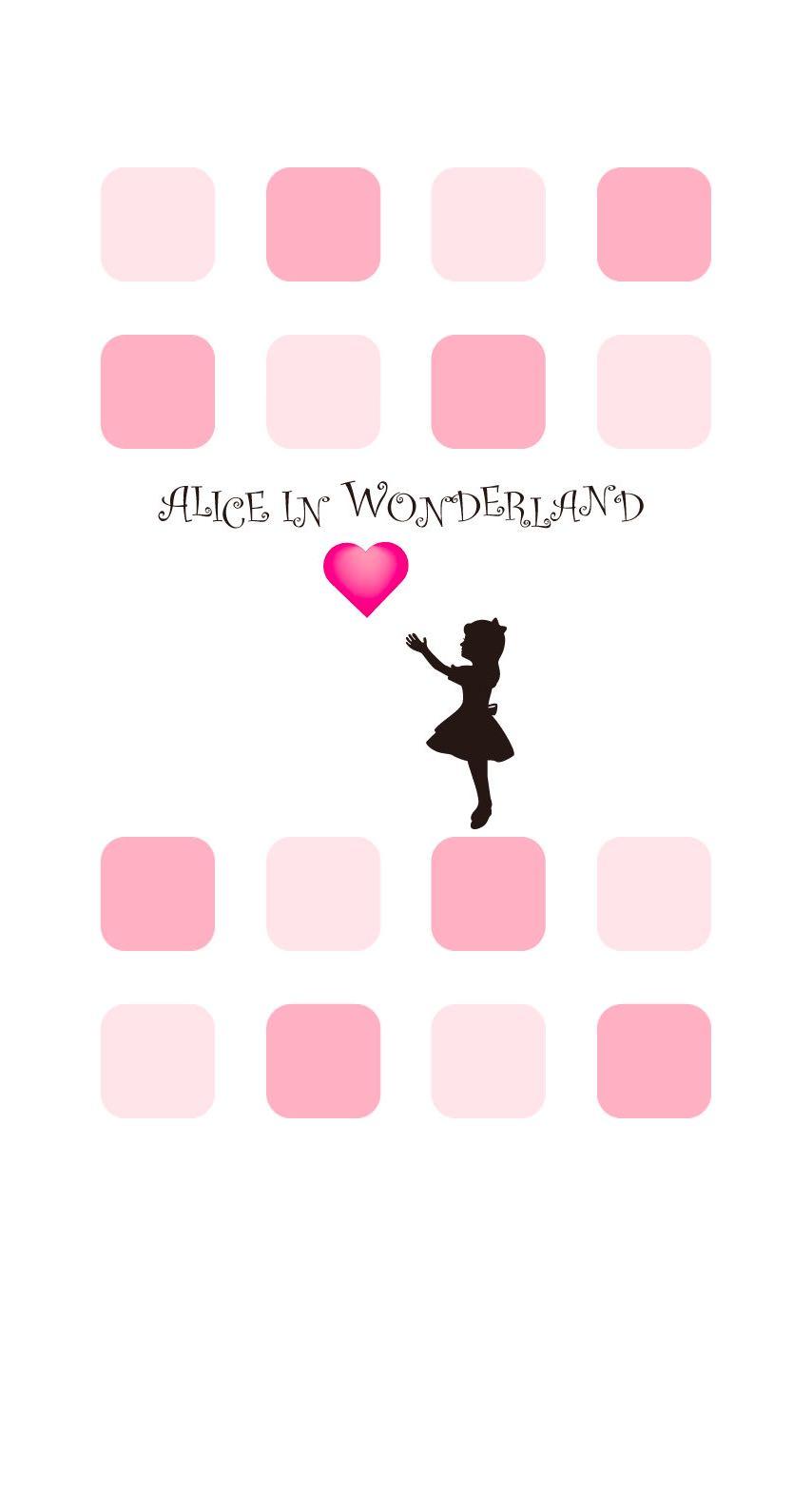 Pink Shelf Alice Women S Heart Wallpaper Sc Iphone6s