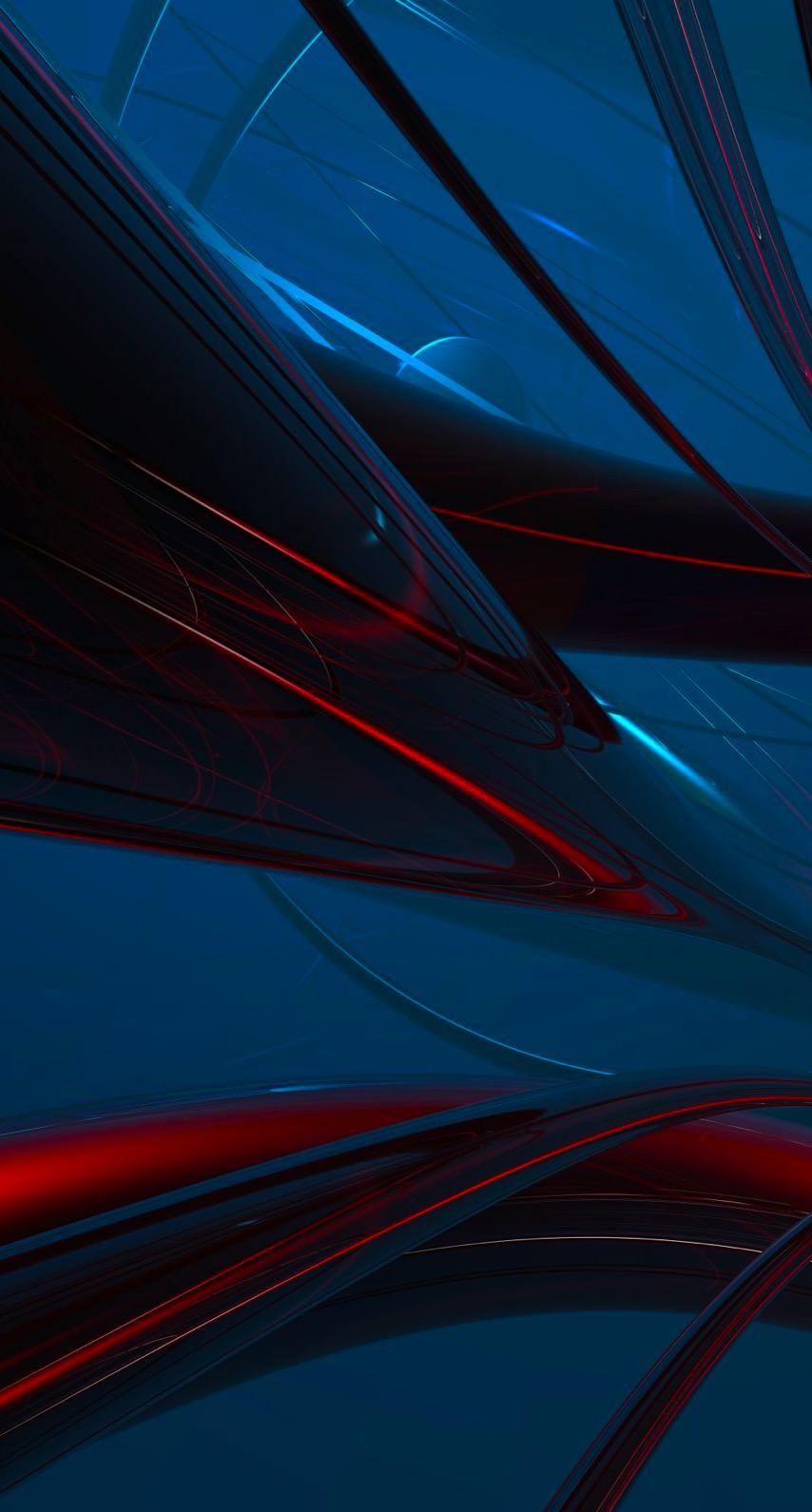 Cool blue-black pattern 3D | wallpaper.sc iPhone6s