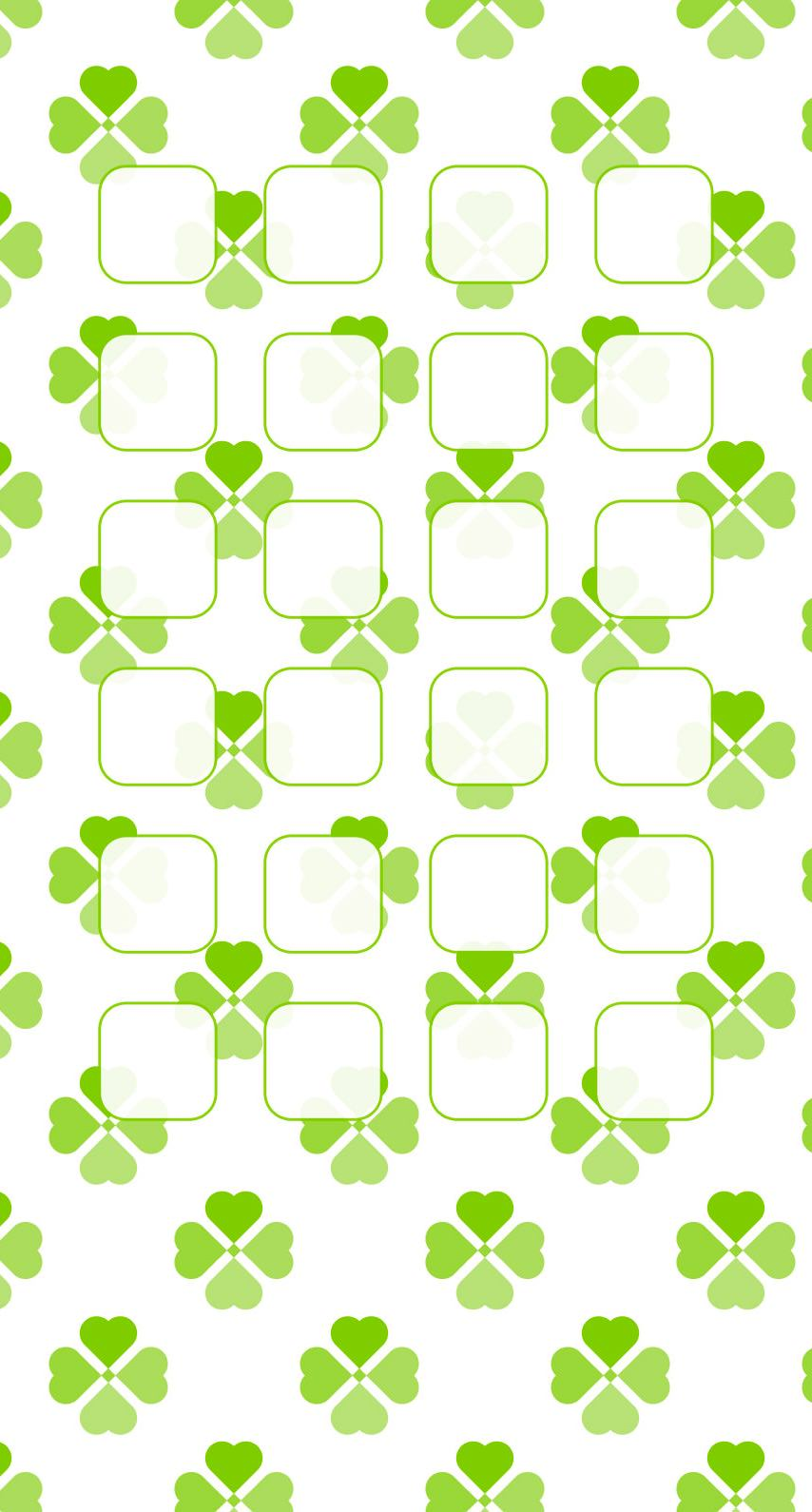 模様クローバー緑女子向け棚 Wallpaper Sc Iphone6s壁紙