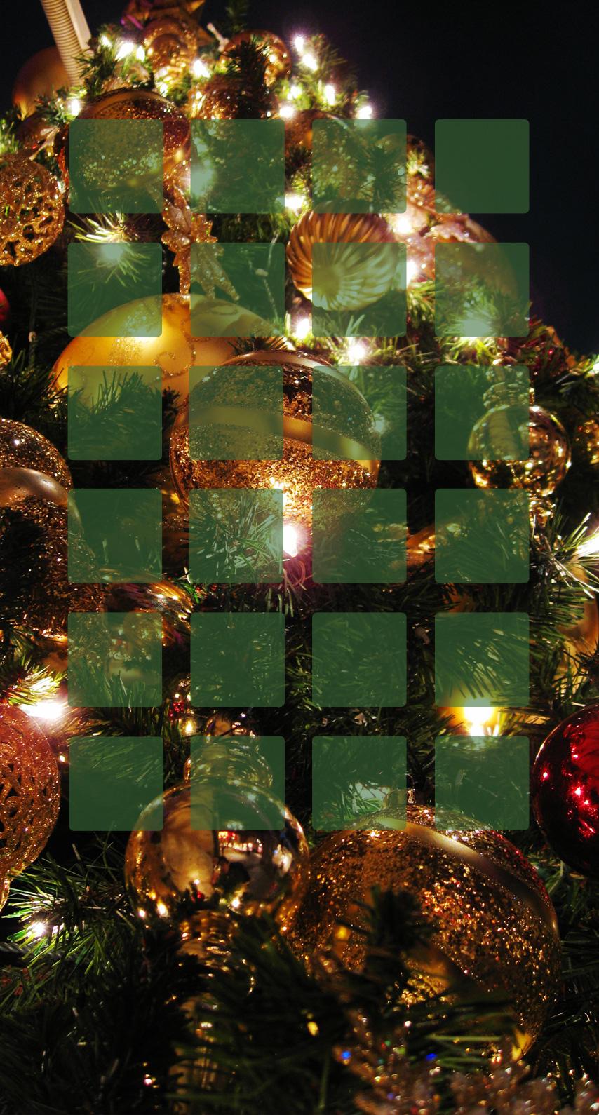 棚クリスマスツリー緑女子向け Wallpaper Sc Iphone6s壁紙