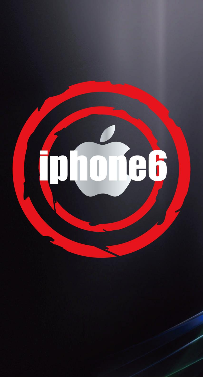 イラストAppleロゴiPhone6黒の iPhone6s / iPhone6 壁紙