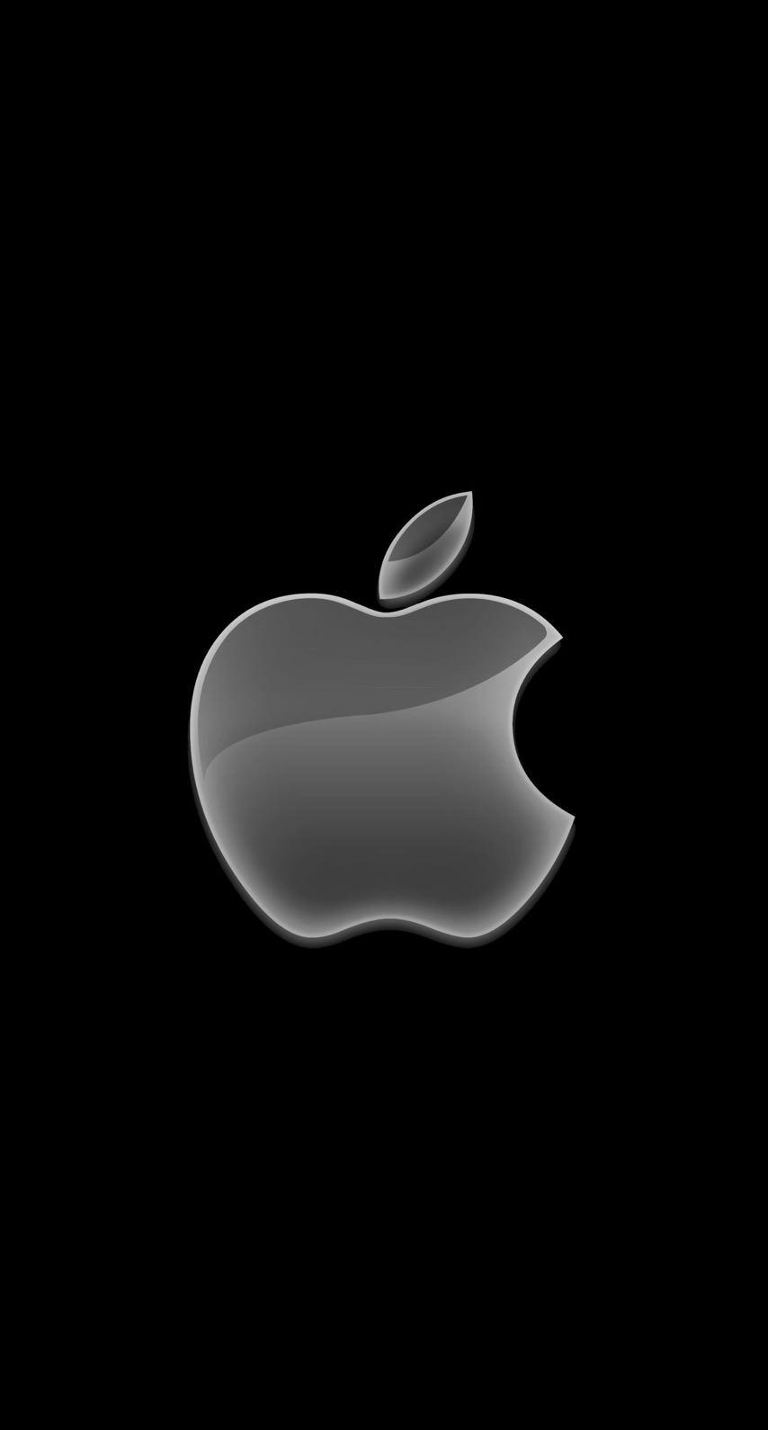 Appleロゴ黒クールの iPhone6s / iPhone6 壁紙
