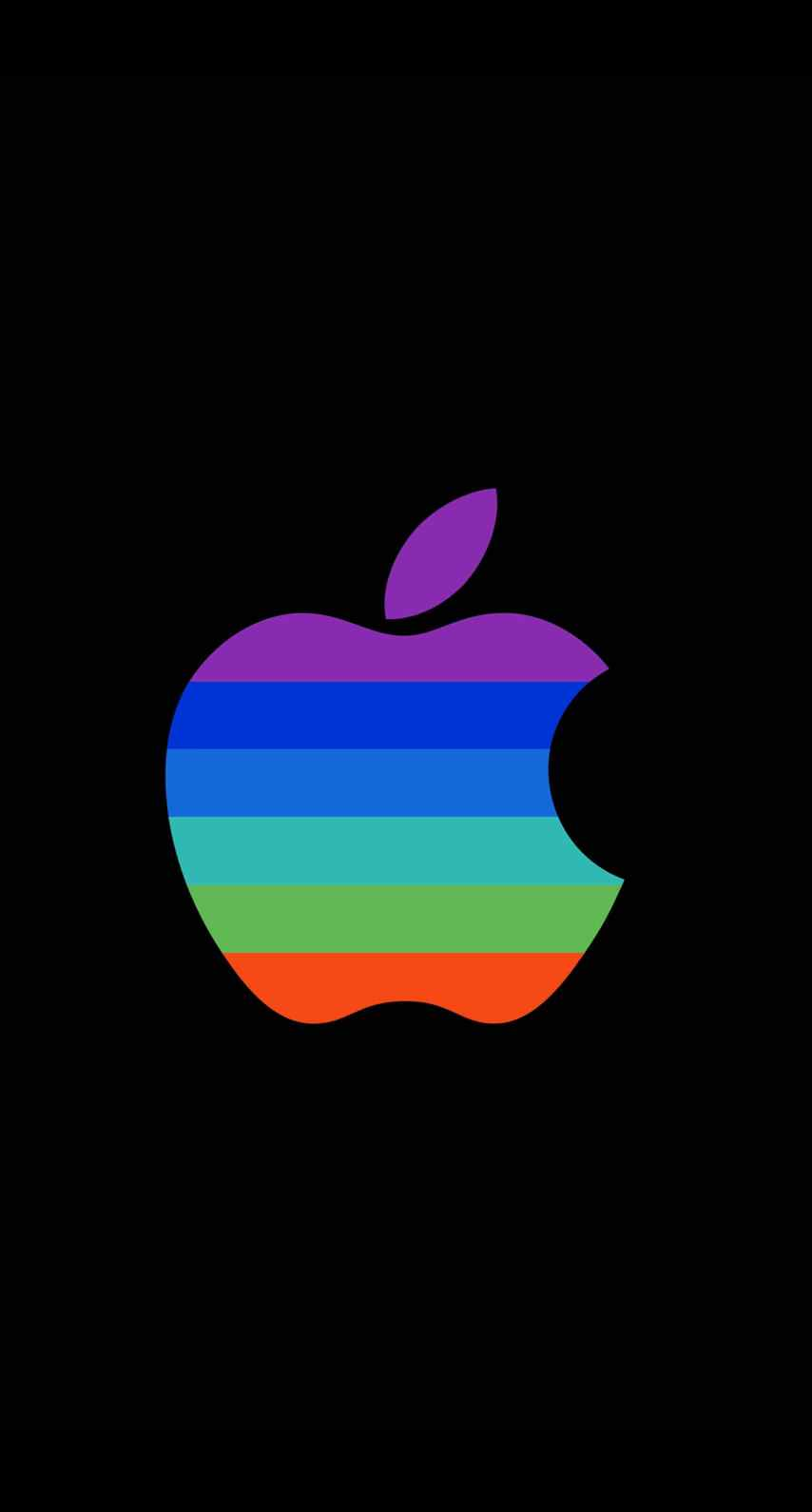 Apple Logo Colorful Black Cool Wallpaper Sc Iphone6s