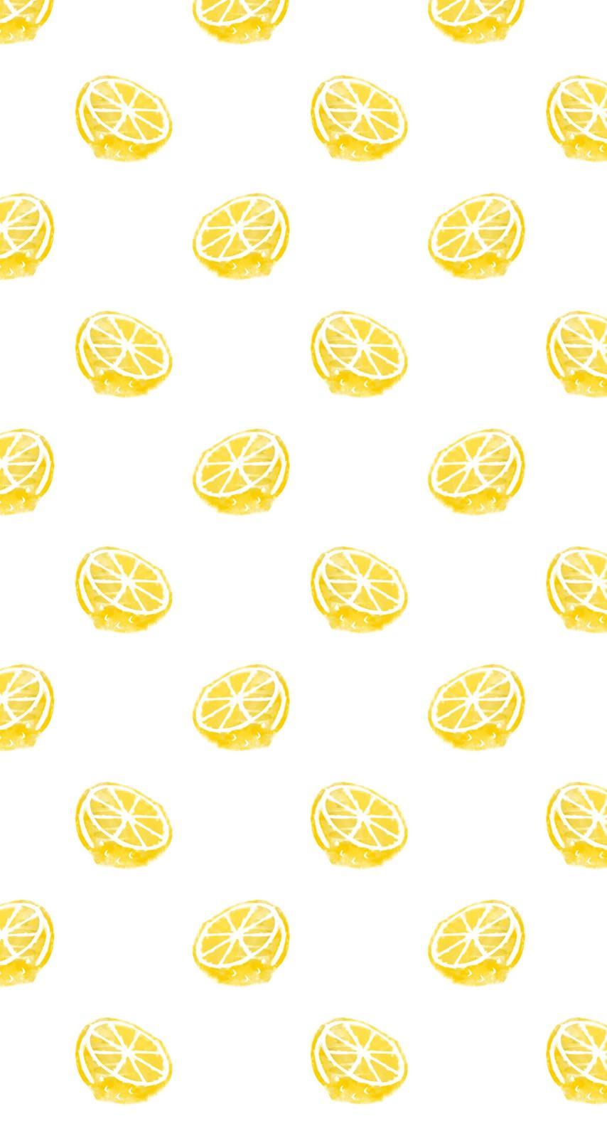 模様イラストフルーツレモン黄色女子向け Wallpaper Sc Iphone6s壁紙
