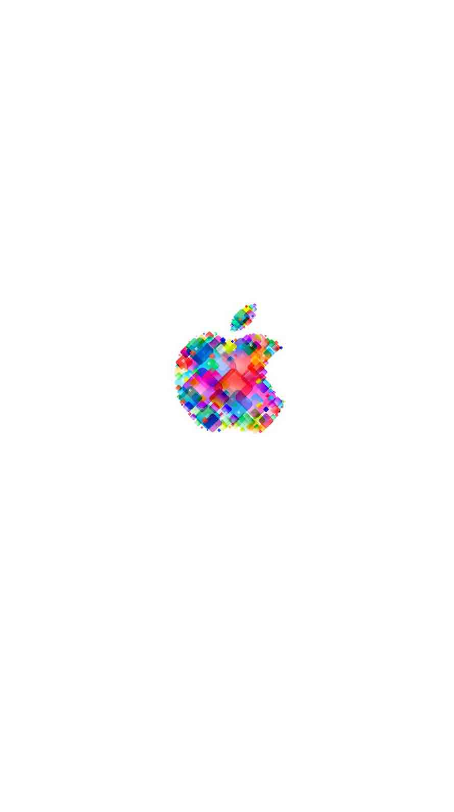 Apple logo pop colorful white   wallpaper.sc iPhone6s Iphone 5c White With Black Case