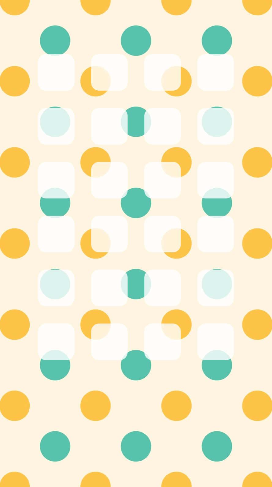 shelf cute polka dot green orange wallpaper