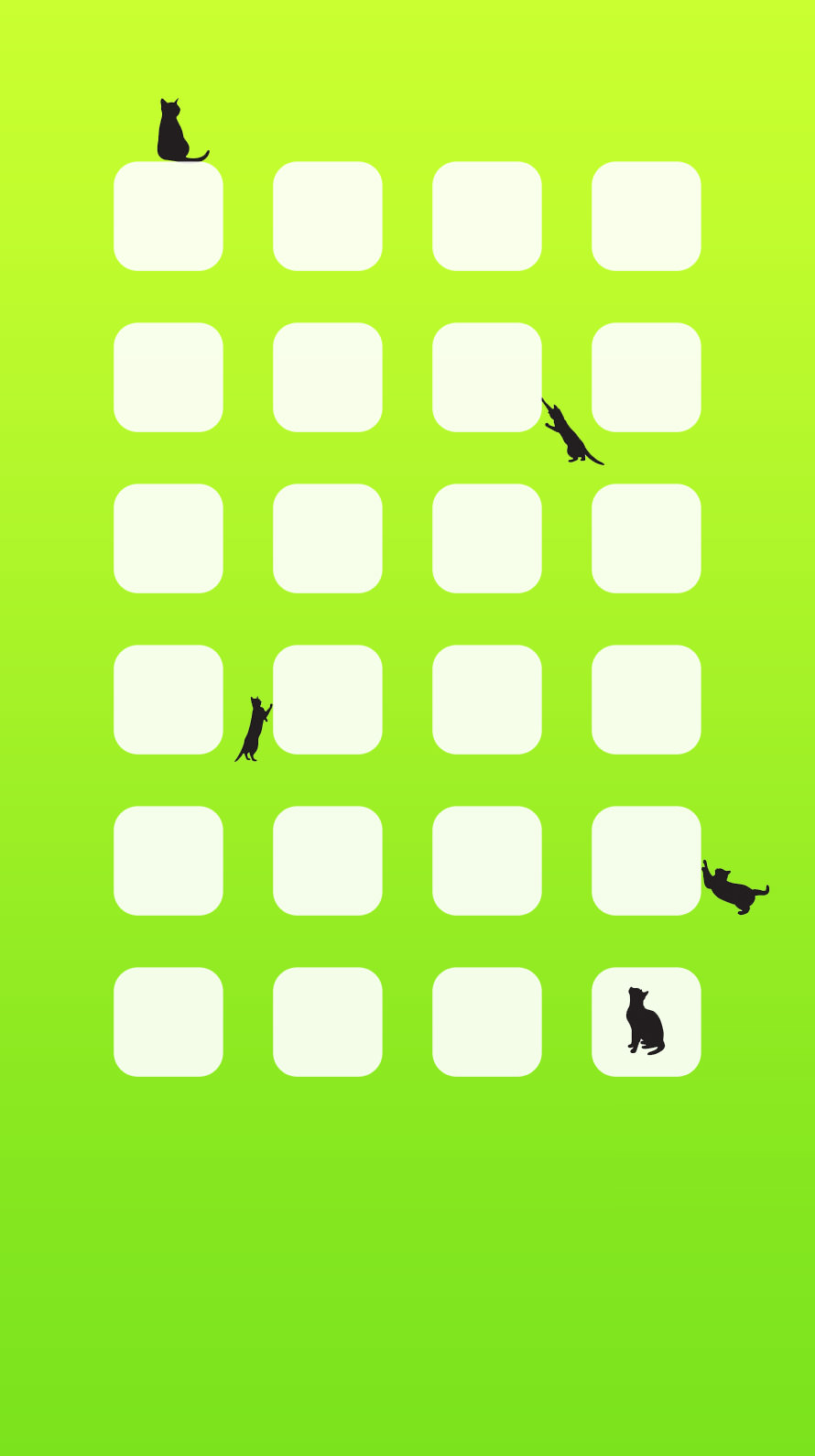 イラスト棚猫緑. iPhone 6s / iPhone 6 壁紙