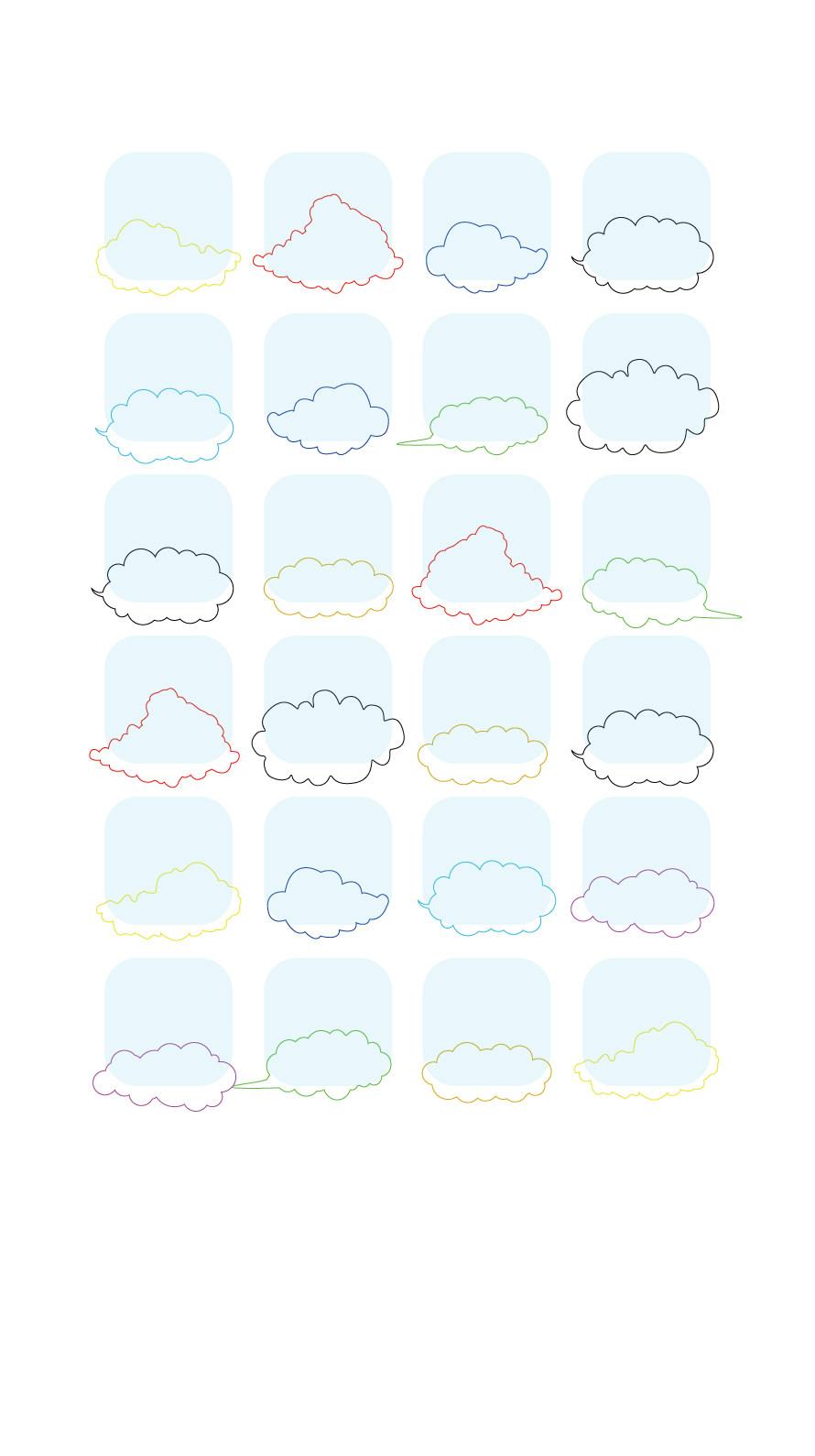 Shelf Simple Cloud Blue Colorful Wallpaper Sc Iphone6s