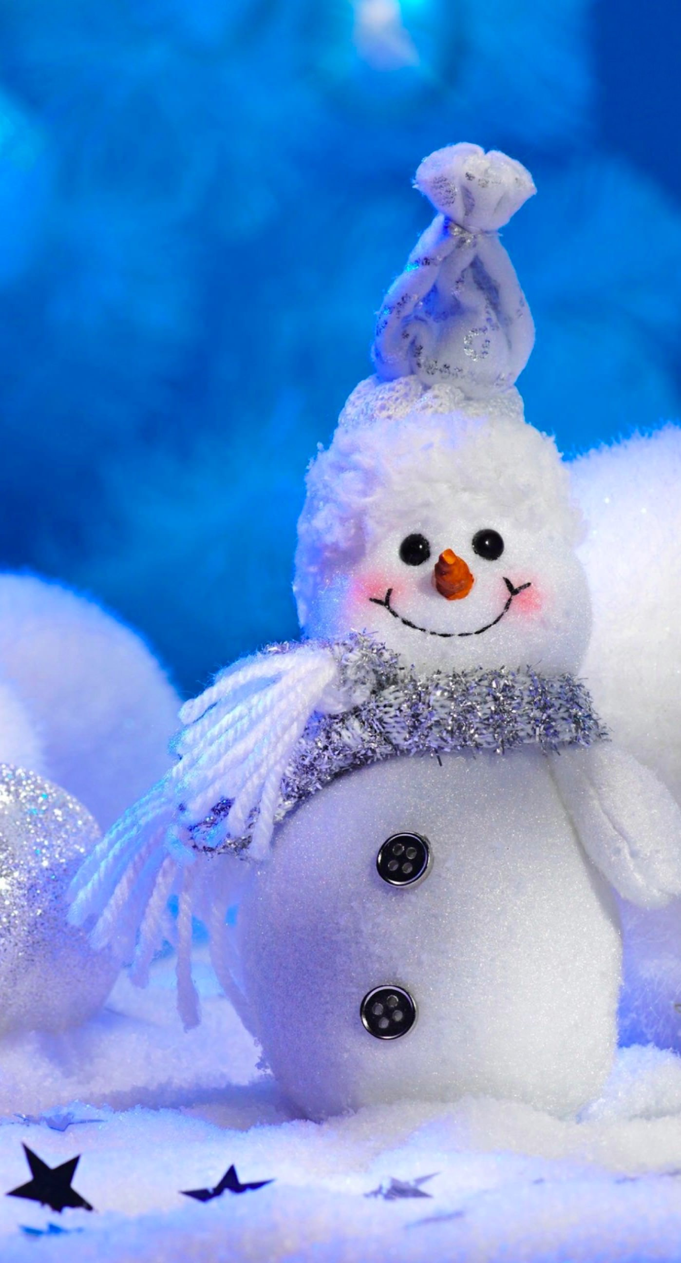 かわいい雪だるま白 Wallpaper Sc Iphone6splus壁紙