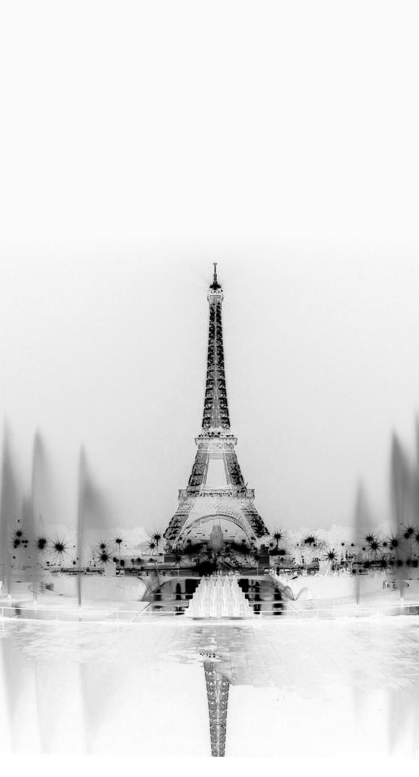Monochrome Landscape Eiffel Tower Wallpaper Sc Iphone6splus