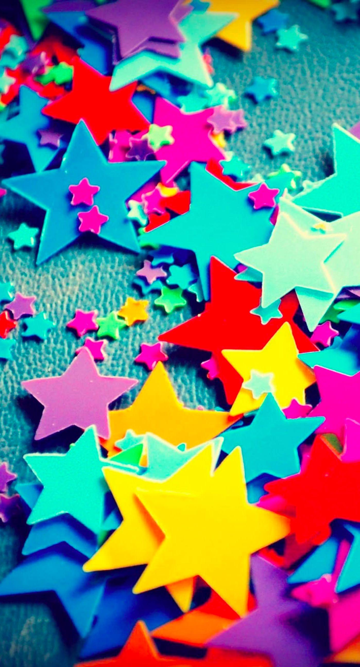 Colorful Star Wallpaper Sc Iphone6splus