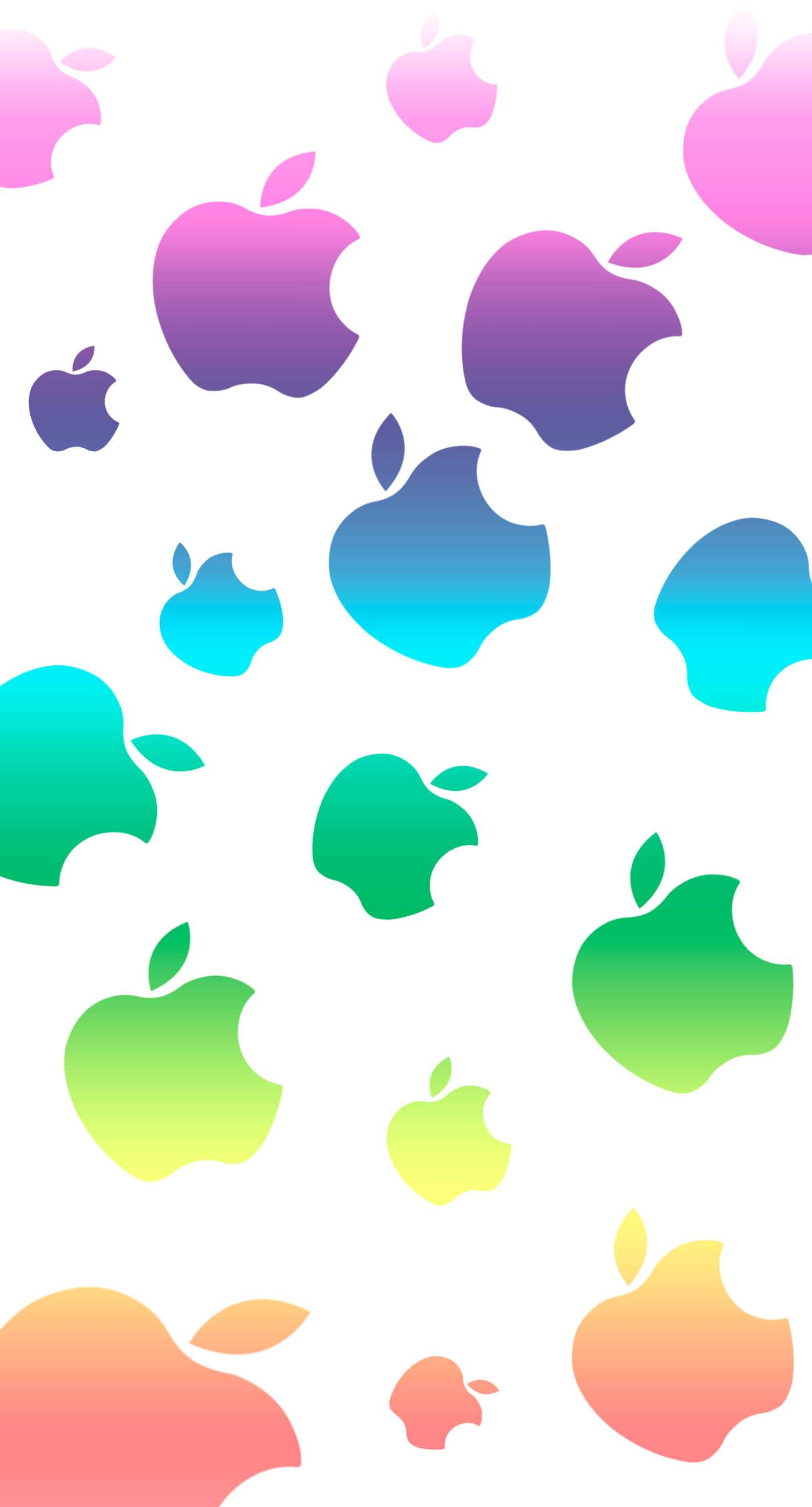 Appleカラフル可愛い Wallpaper Sc Iphone6splus壁紙