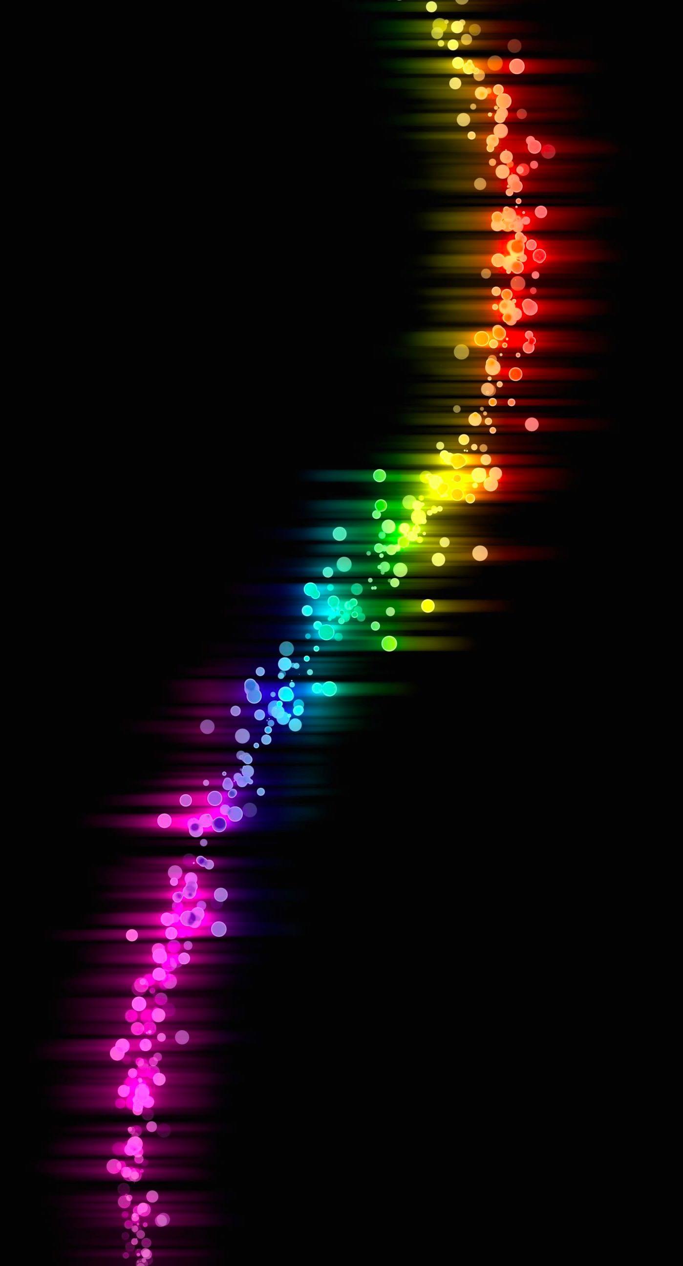 Colorful Rainbow Pattern Black Cool Wallpaper Sc Iphone6splus