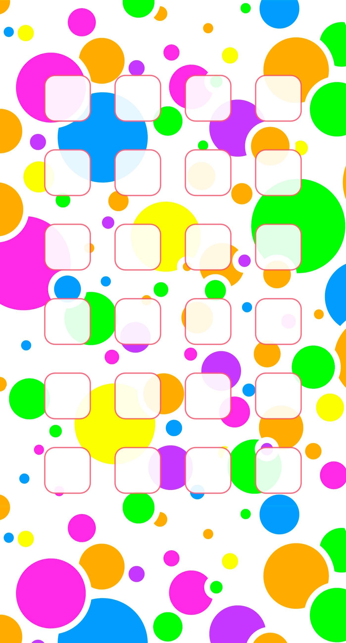 模様カラフル水玉棚女子向け Wallpaper Sc Iphone6splus壁紙