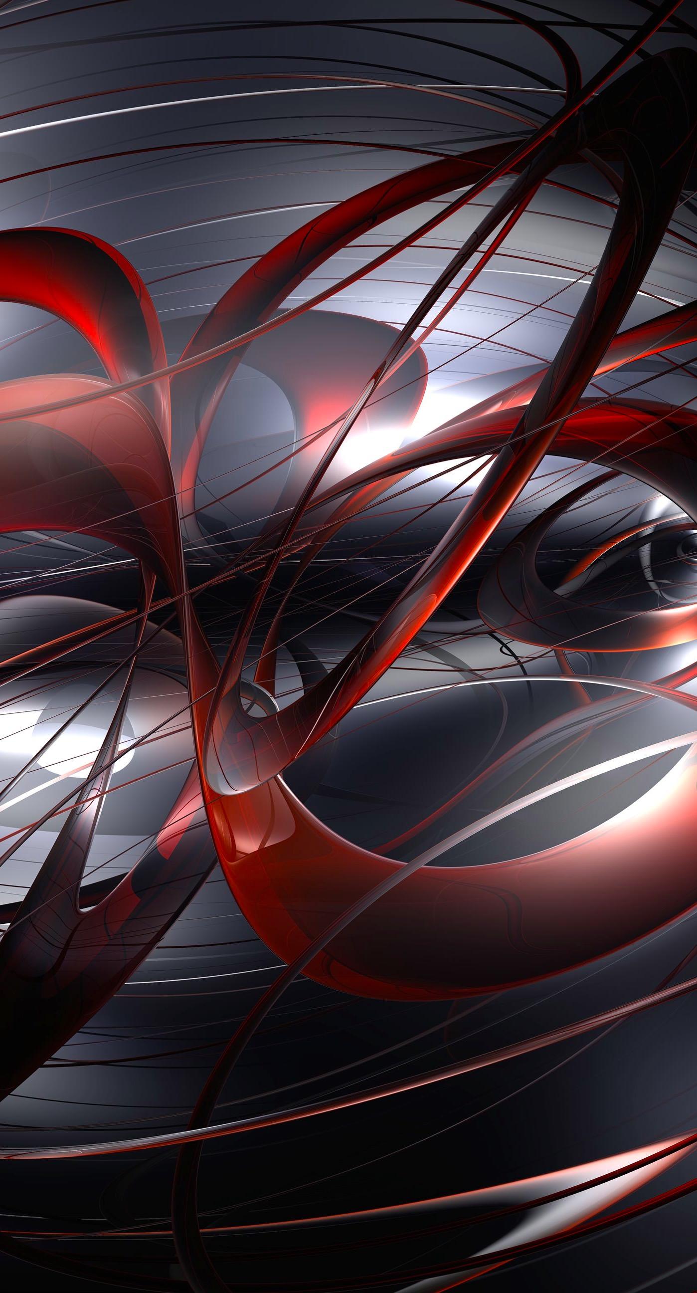 Pattern black red 3D Cool | wallpaper.sc iPhone6sPlus