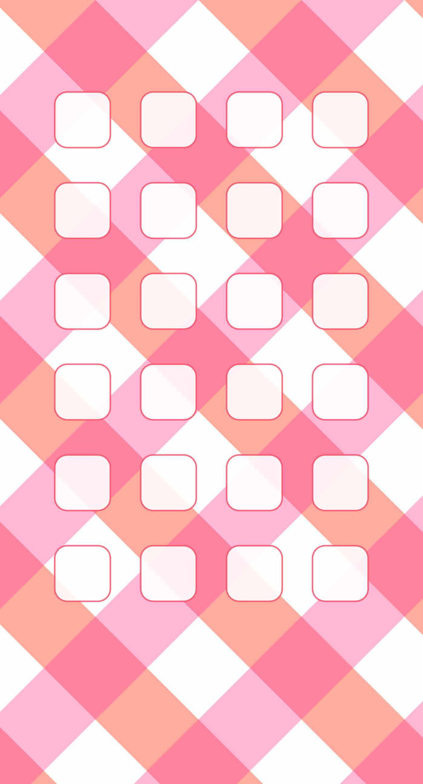 Check Pink White Shelf Pattern For Girls Wallpaper Sc