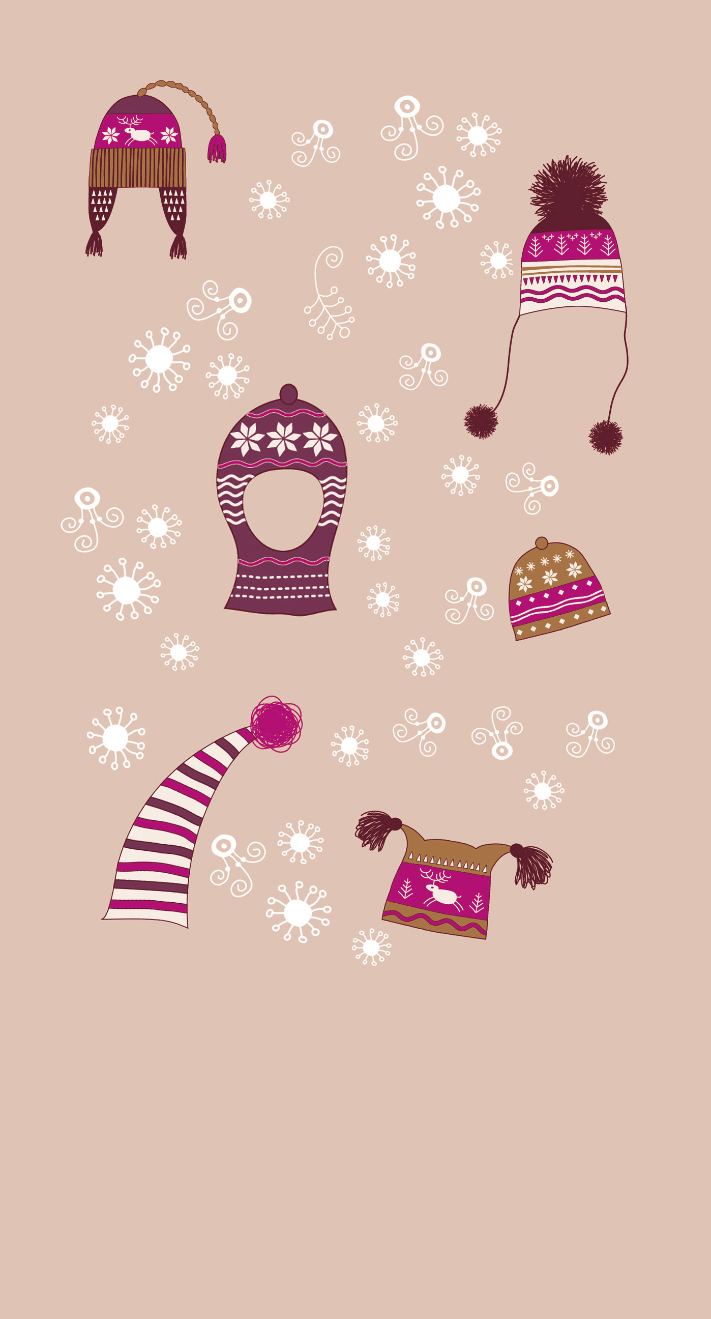 winter snow hat peach cute girls and woman for wallpaper