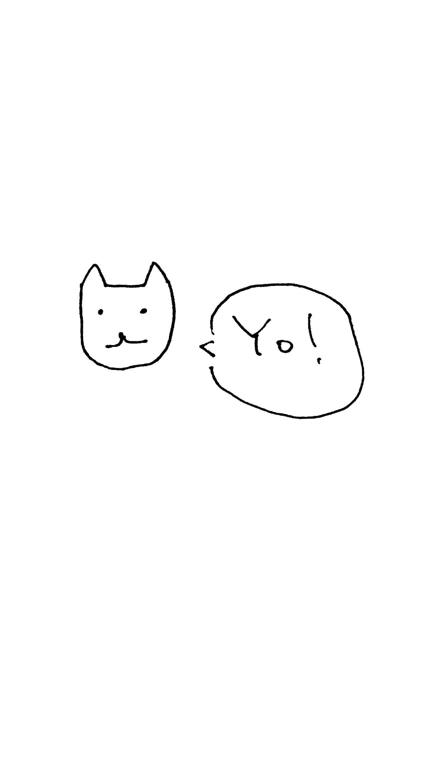 イラスト猫白yo Wallpaper Sc Iphone6splus壁紙