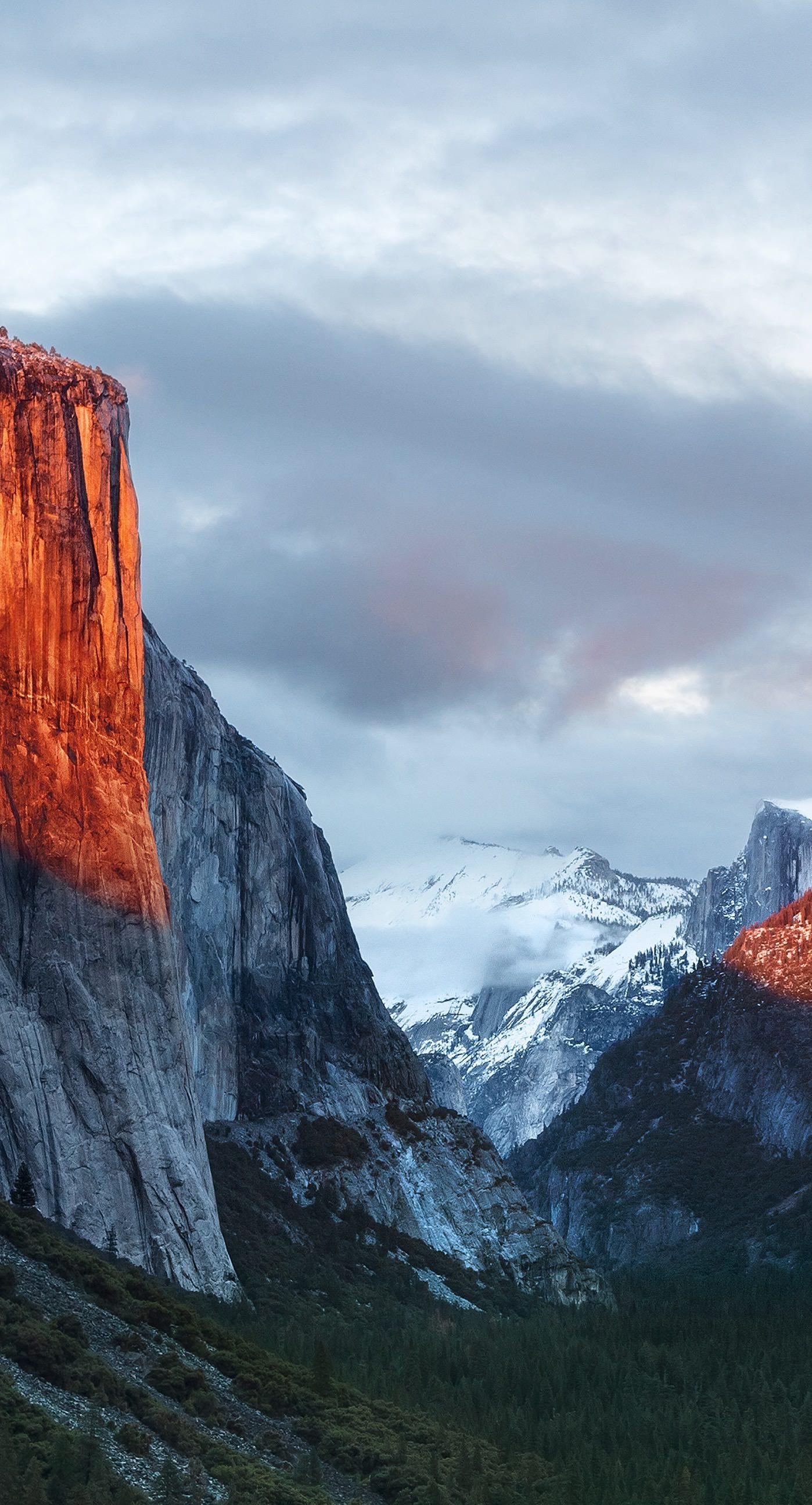 Landscape mountain El Capitan | wallpaper.sc iPhone6sPlus