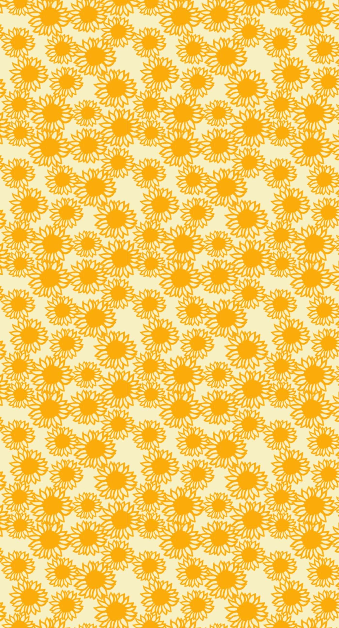 Pattern Sunflower Yellow Women Friendly Wallpaper Sc Iphone6splus