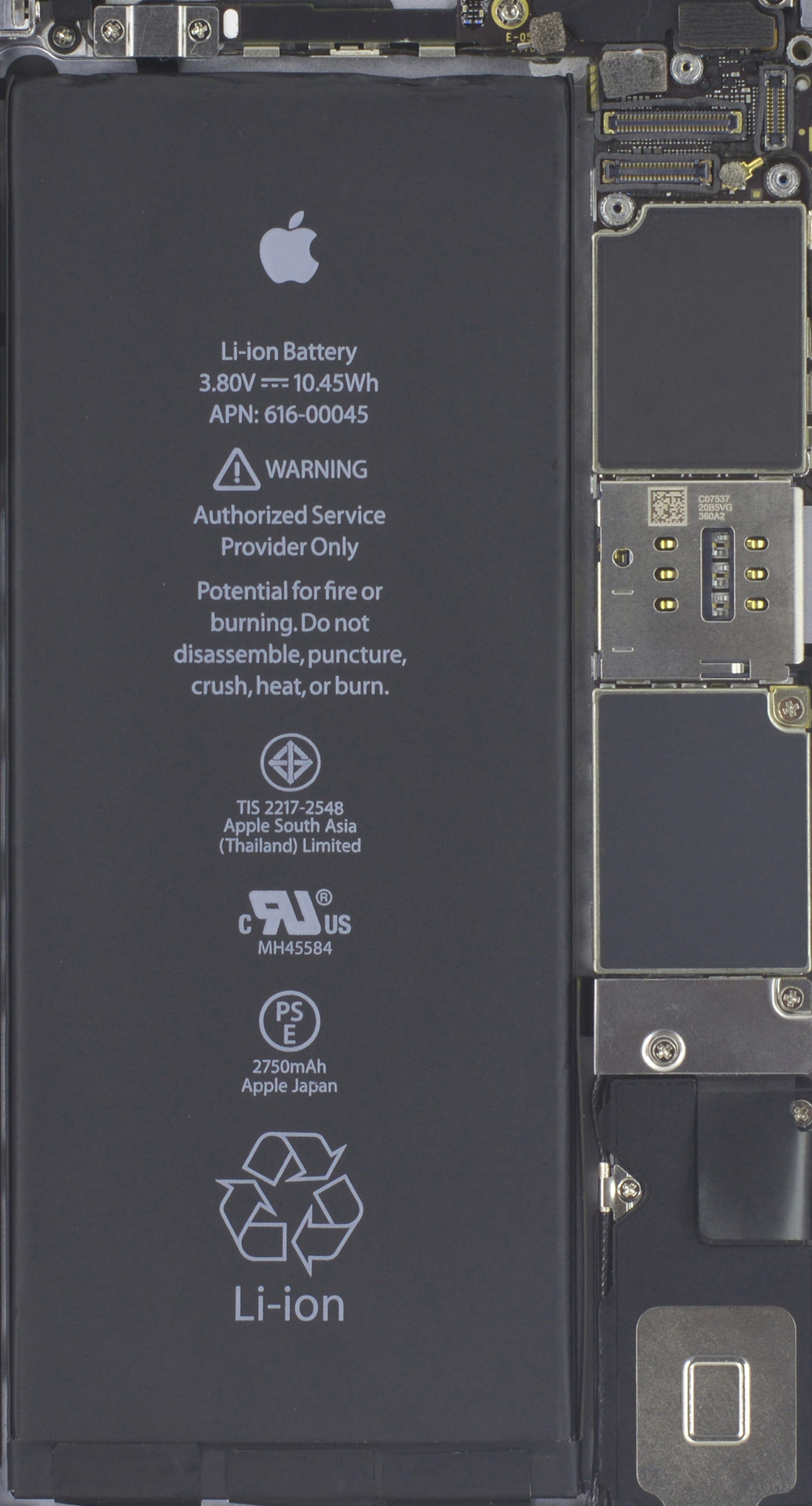 iphone6s plus decomposition mechanical board cool
