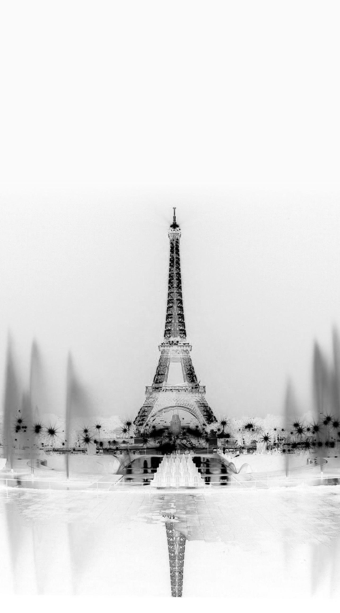 Monochrome Landscape Eiffel Tower