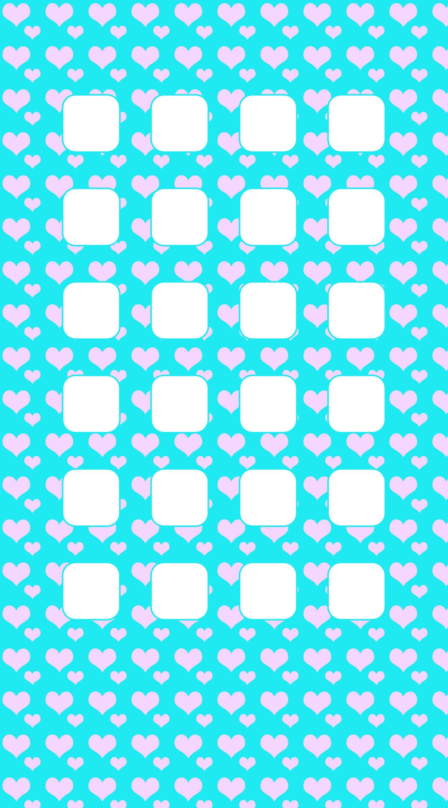 Heart Pattern Blue Pink Shelf Wallpaper Sc Iphone6splus