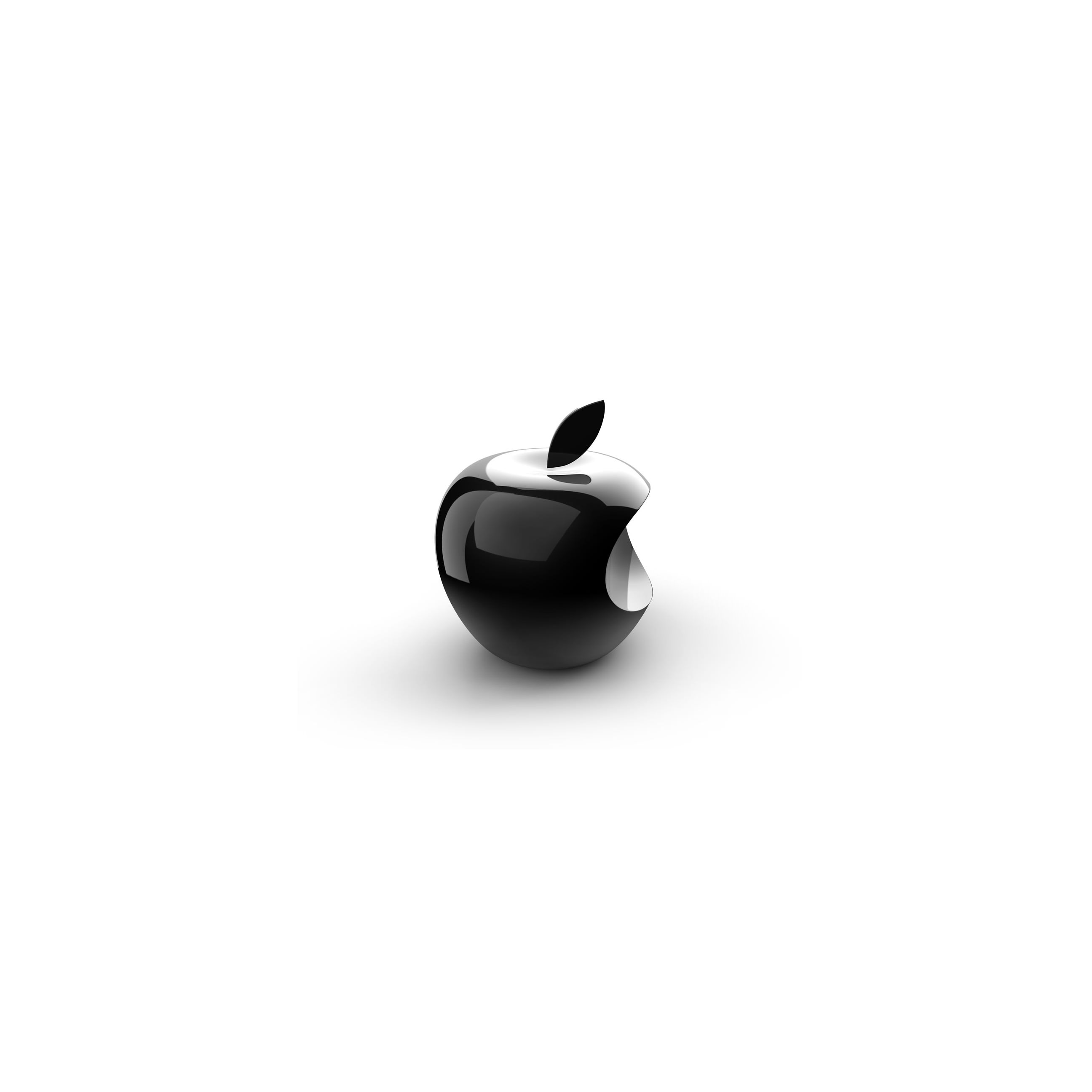 Apple Logo 3d Black And White Wallpapersc Iphone6splus