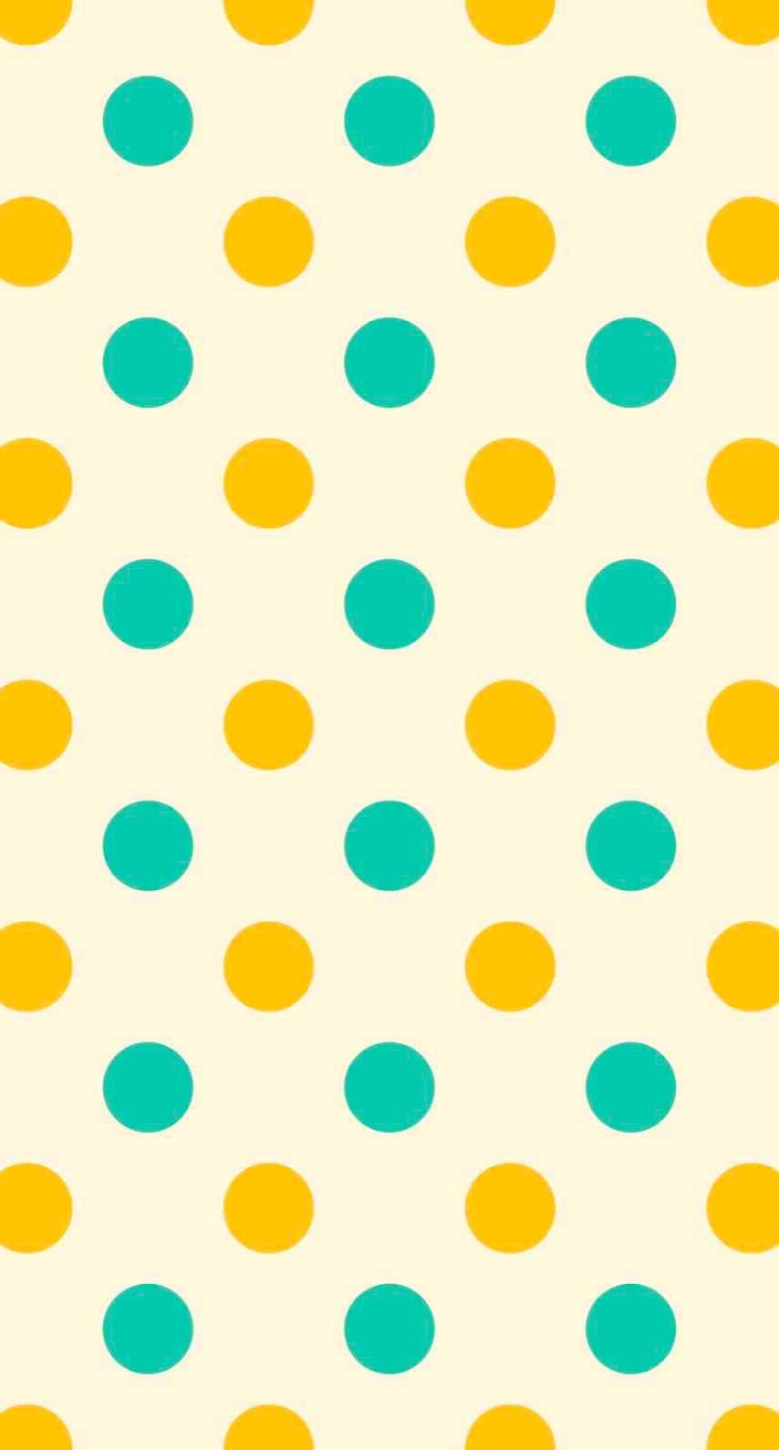水玉黄色緑 Wallpaper Sc Iphone7壁紙