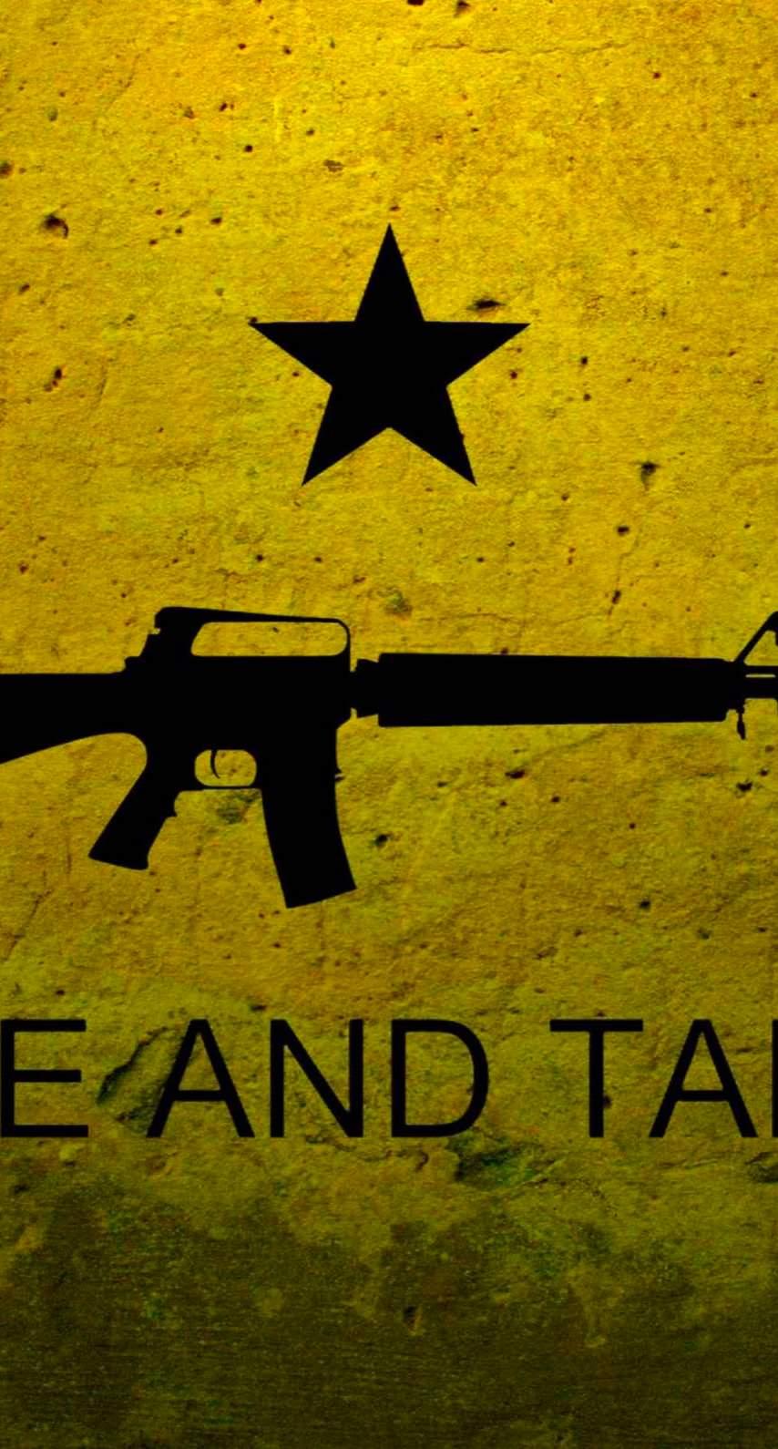 Illustration Yellow Black Gun