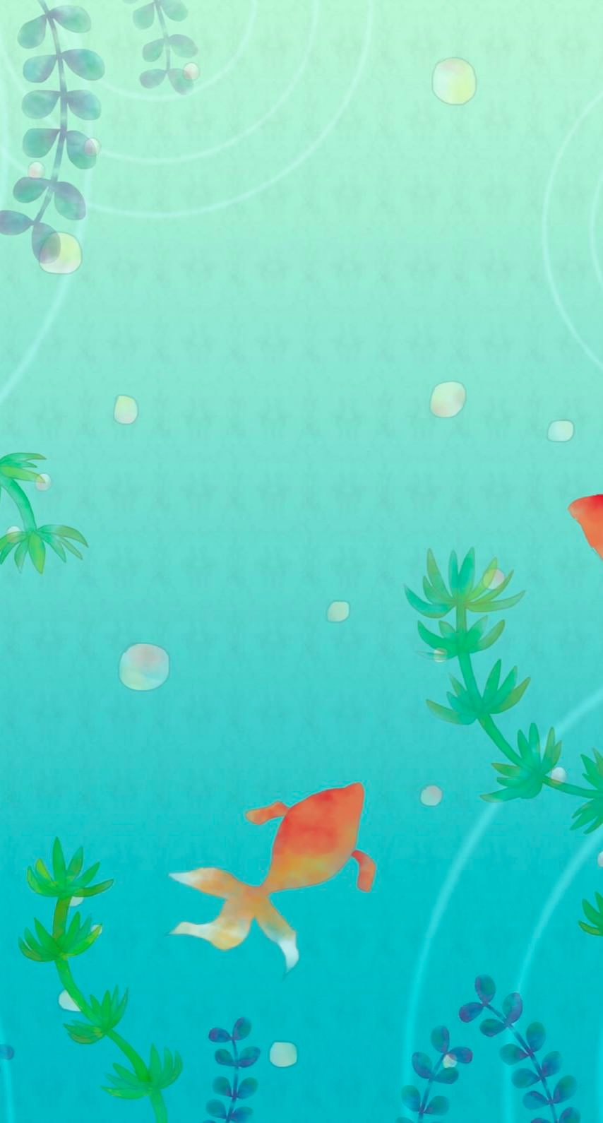 金魚イラスト Wallpaper Sc Iphone7壁紙