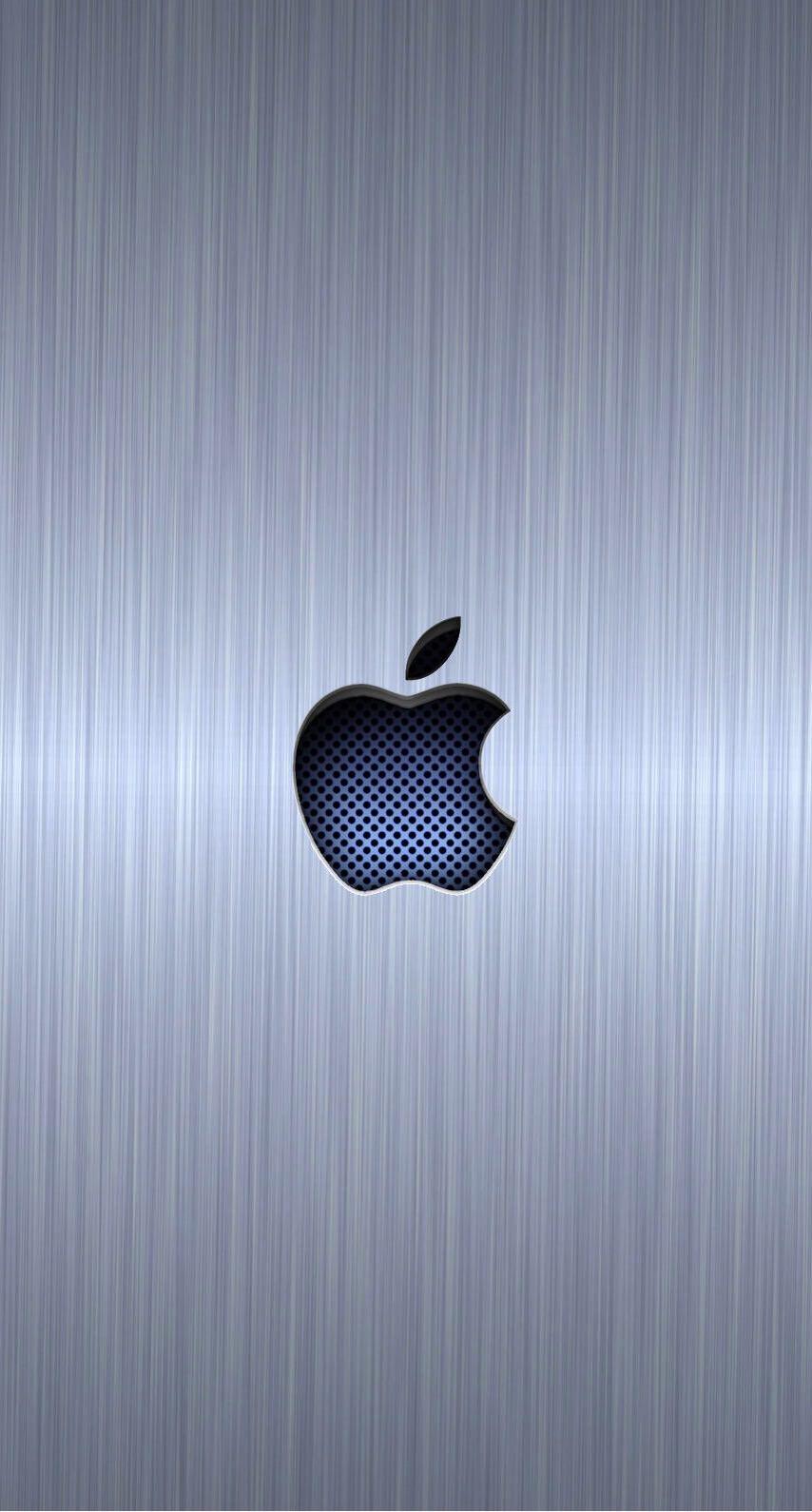Logo Apple Keren Perak Biru Wallpaper Sc Iphone7