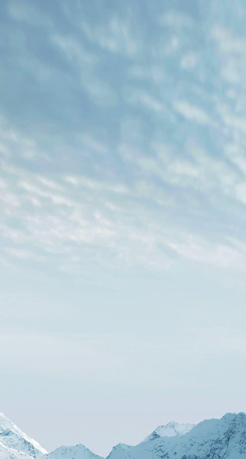 Snowy mountain landscape blank | wallpaper sc iPhone7