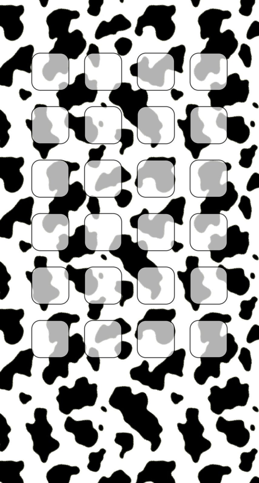Black And White Cow Pattern Shelf Wallpapersc Iphone7