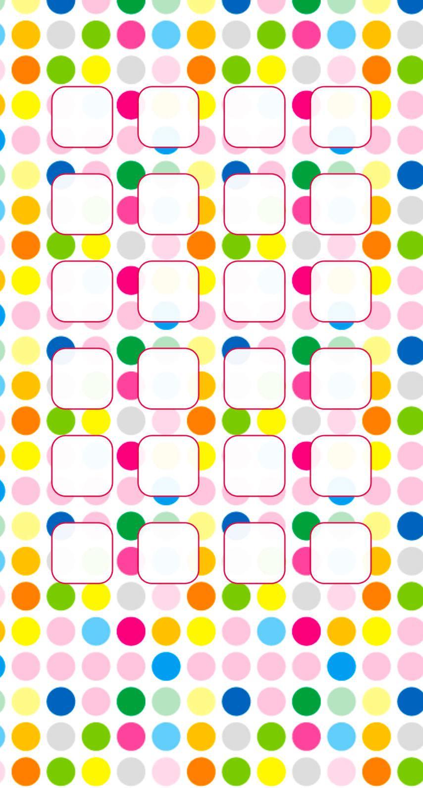 Polka Dot Pattern Colorful Shelves For Girls Wallpaper Sc
