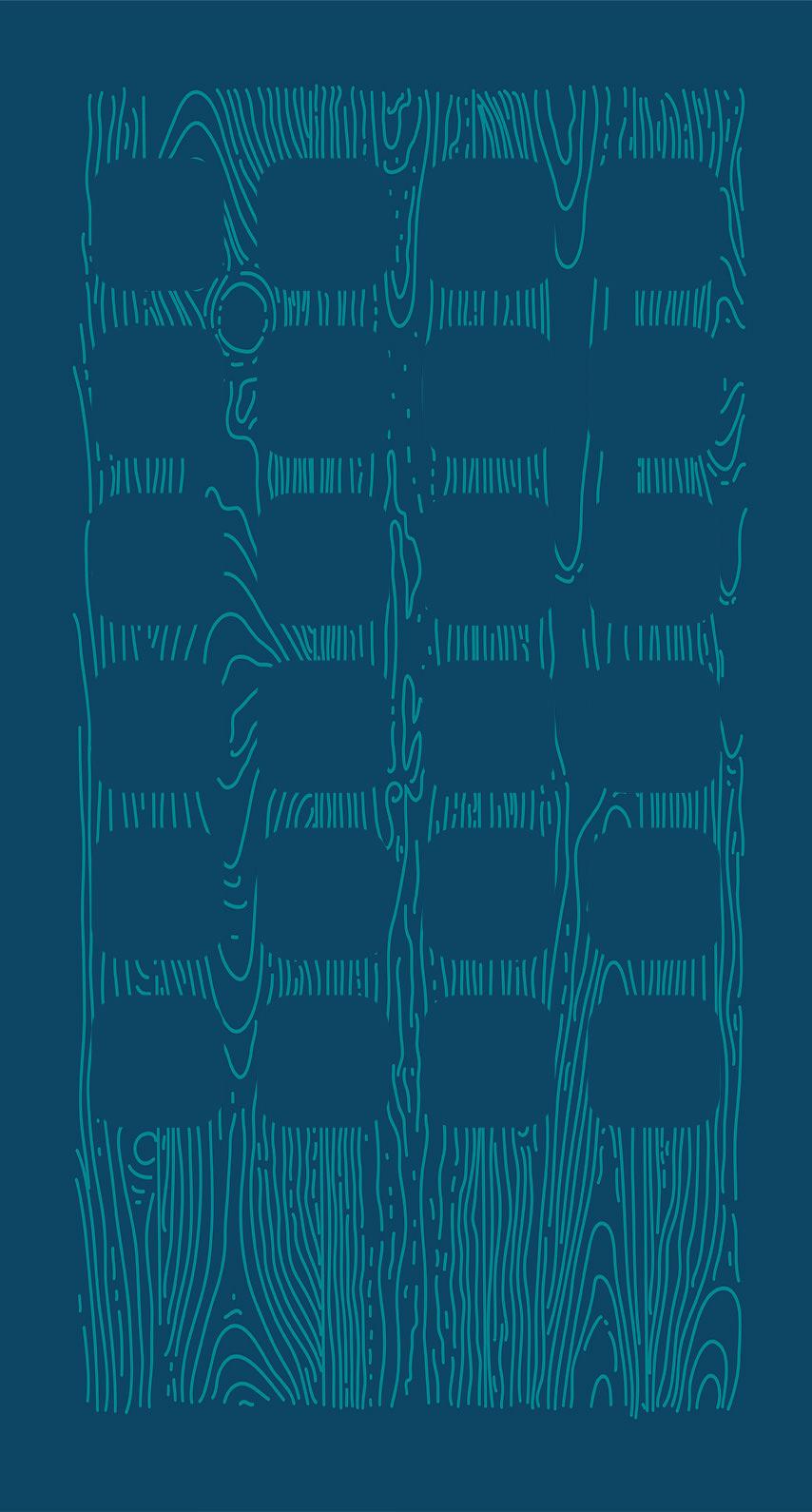 Illustrations Grain Blue Navy Shelf
