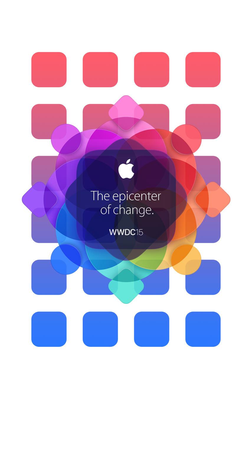 Apple Logo Colorful Wwdc15 Shelf Wallpaper Sc Iphone7