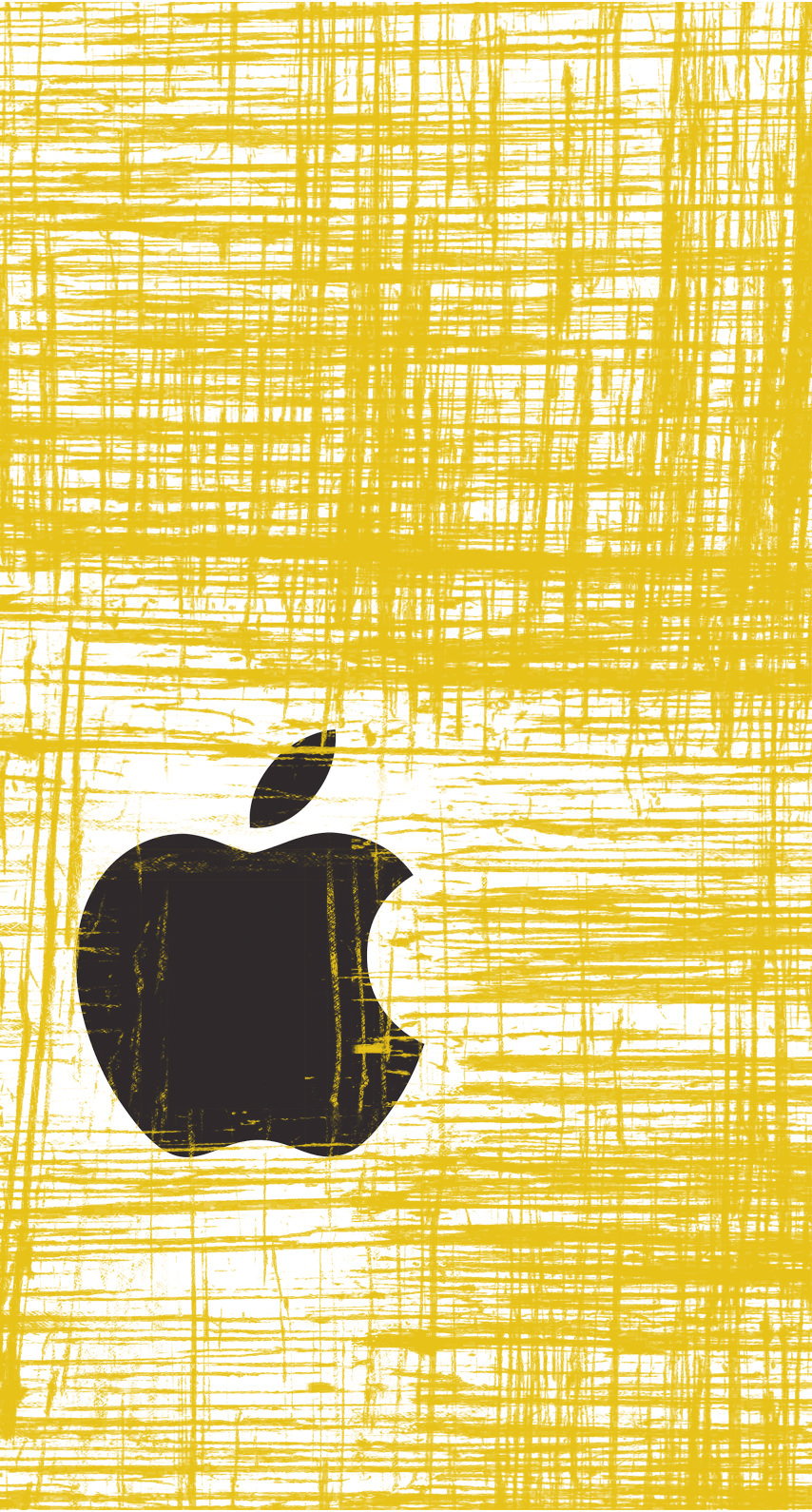 Apple Logo Cool Yellow Wallpaper Sc Iphone7