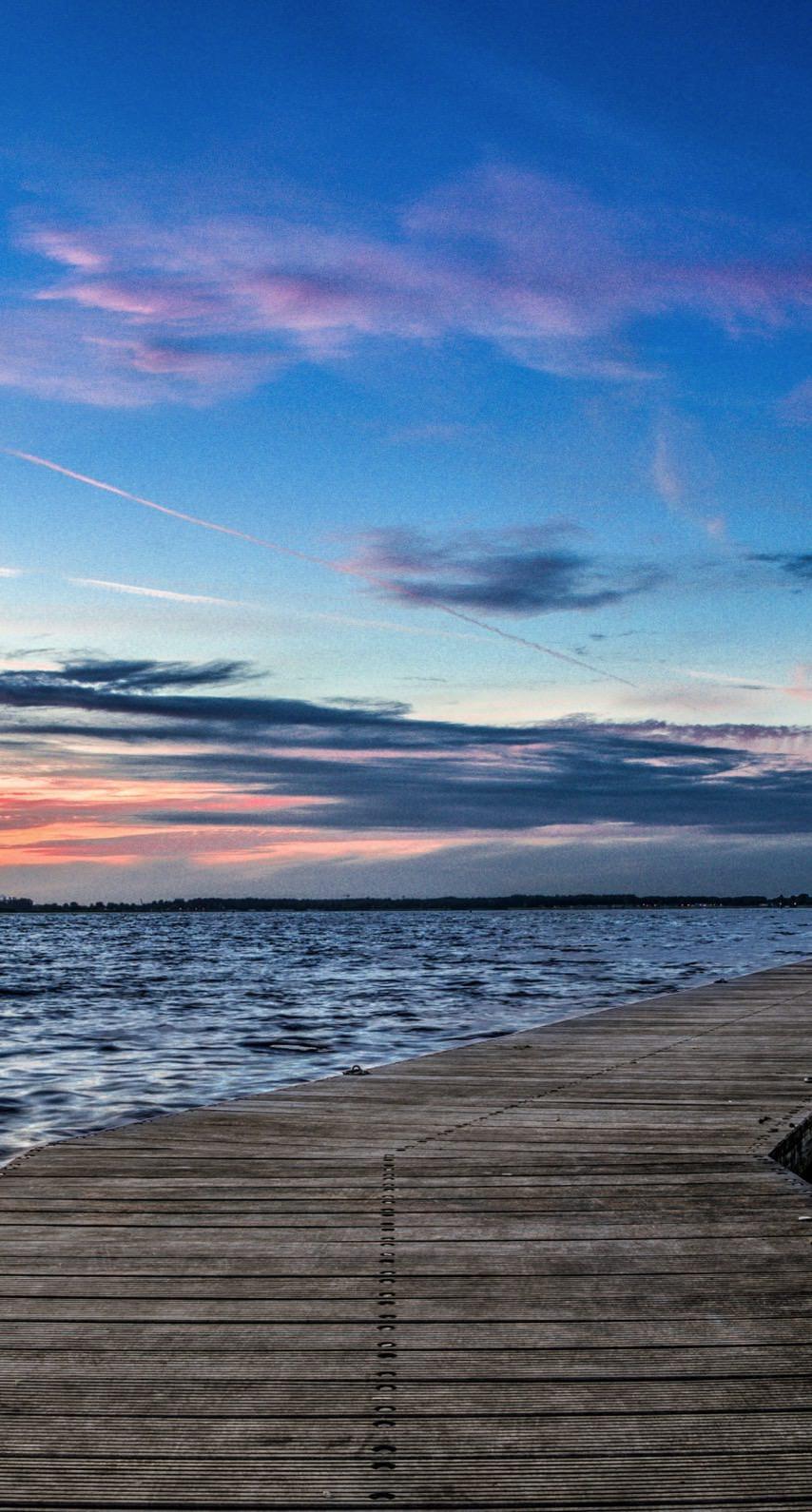 Landscape Pier Sea Sunset Wallpaper Sc Iphone7