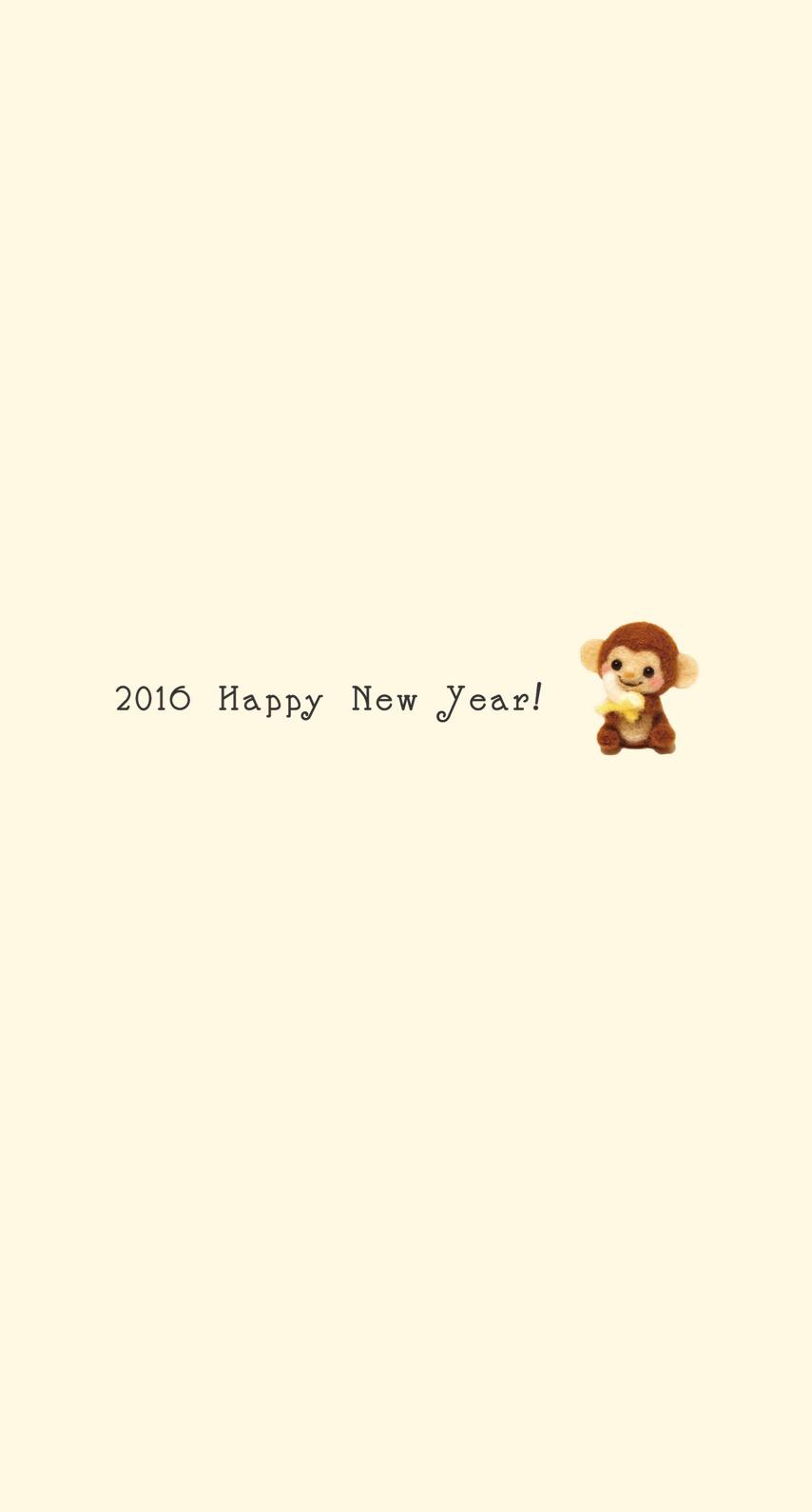 monkey happy news year 2016 yellow wallpaper  wallpaper.sc