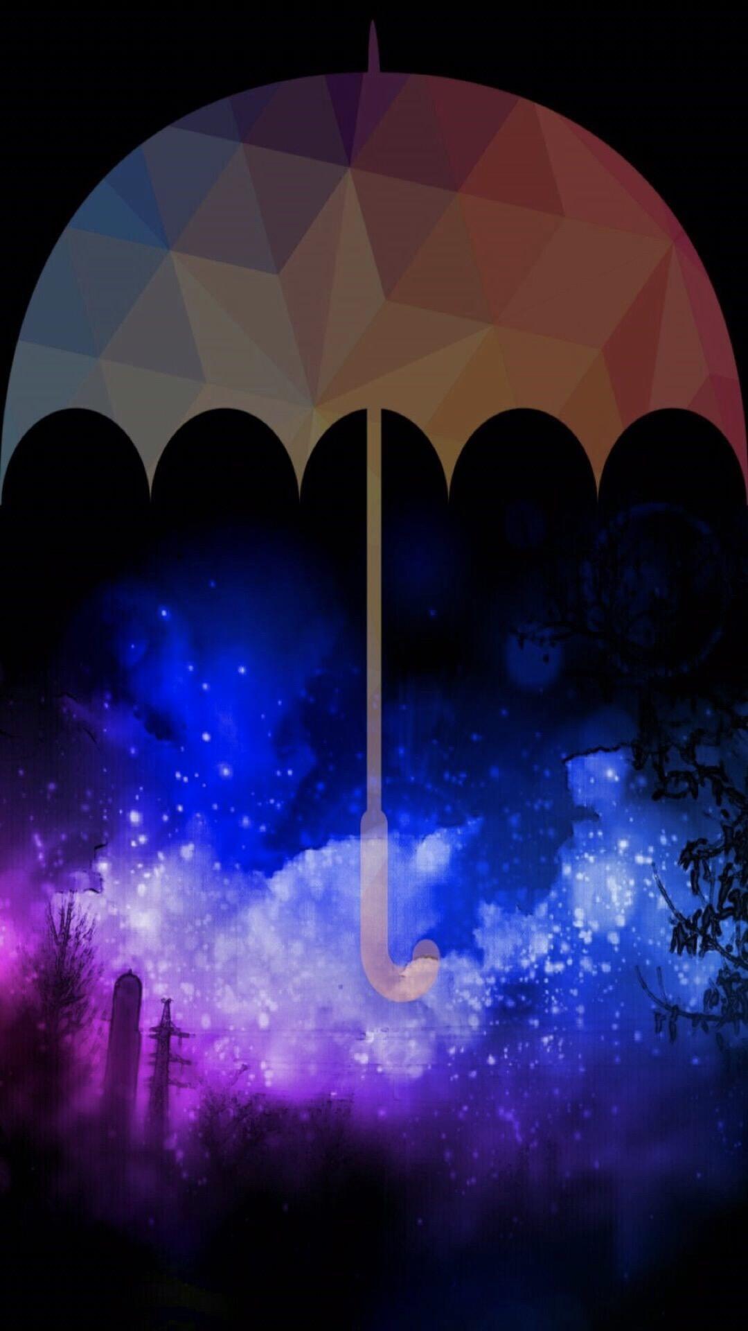 Payung Langit Malam Wallpaper Sc Iphone7plus
