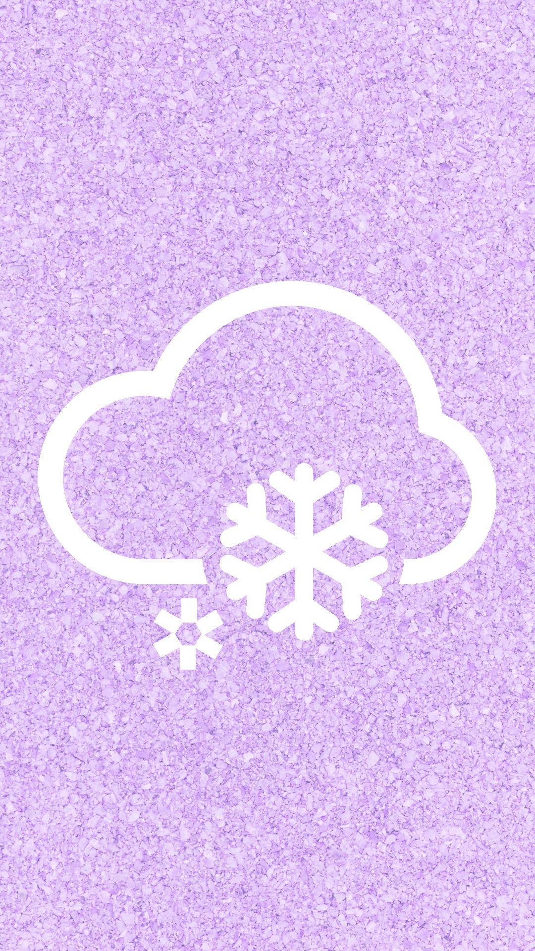 Cloudy Weather Purple
