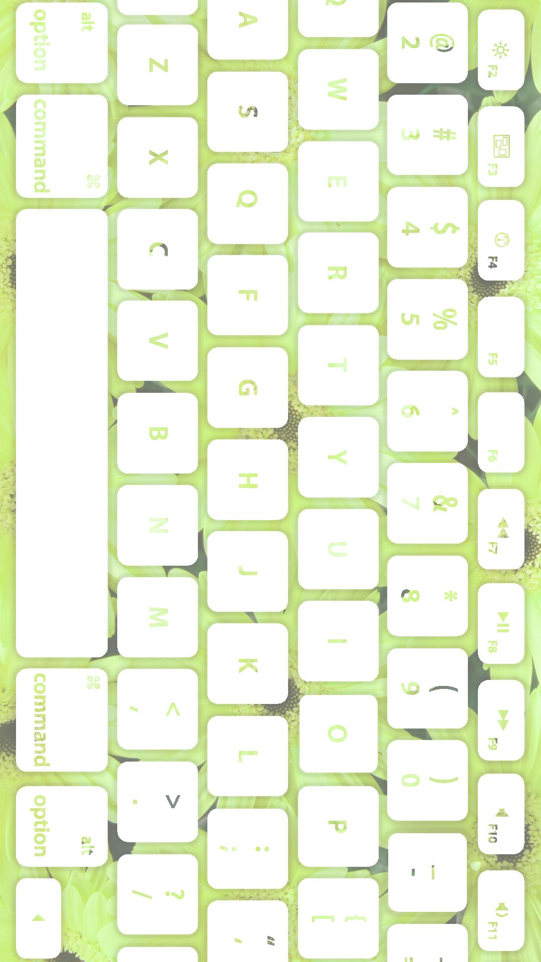 花キーボード黄緑白 Wallpaper Sc Iphone7plus壁紙