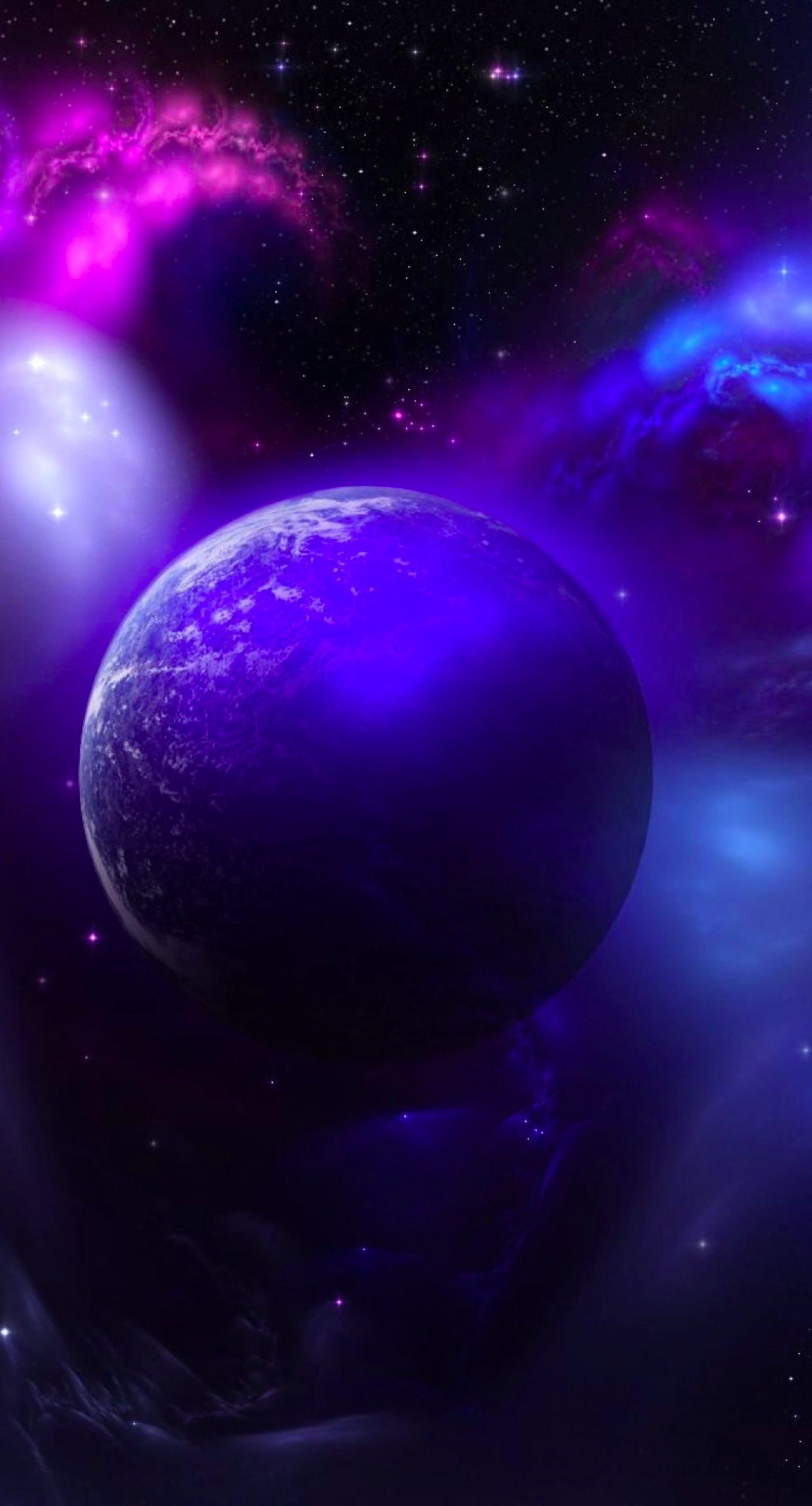 Space Purple Wallpaper Sc Iphone7plus