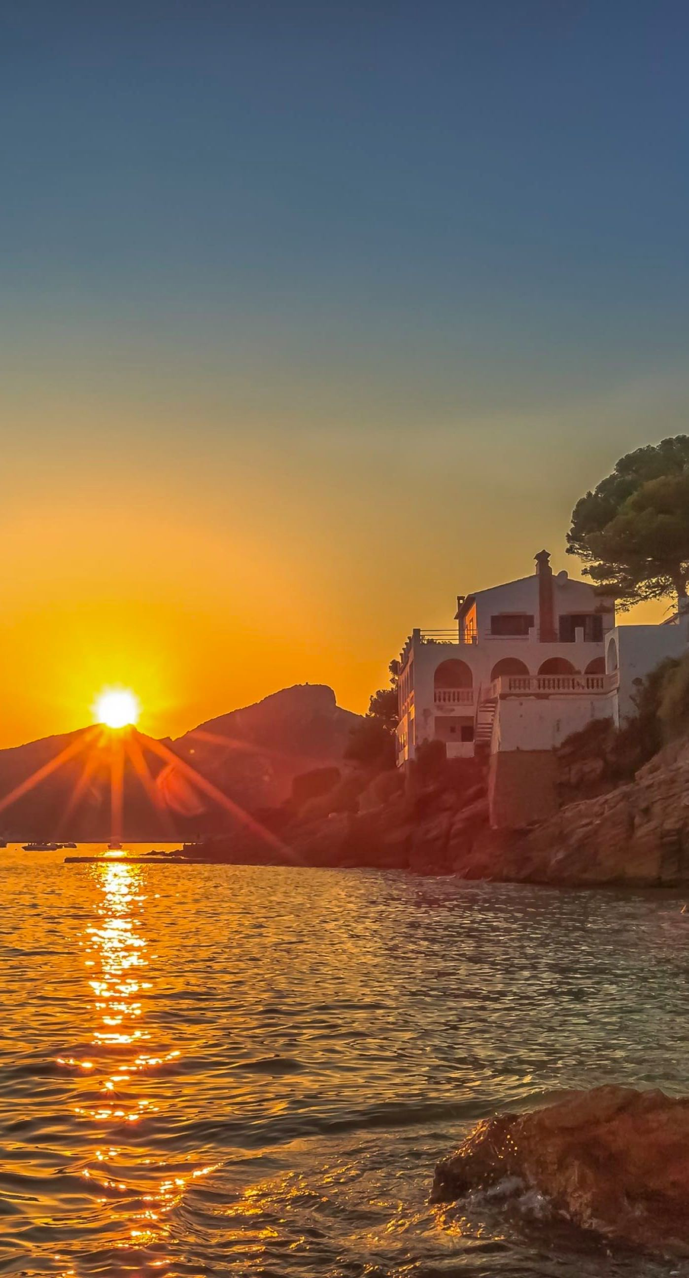Pemandangan Laut Matahari Terbenam Wallpapersc IPhone7Plus
