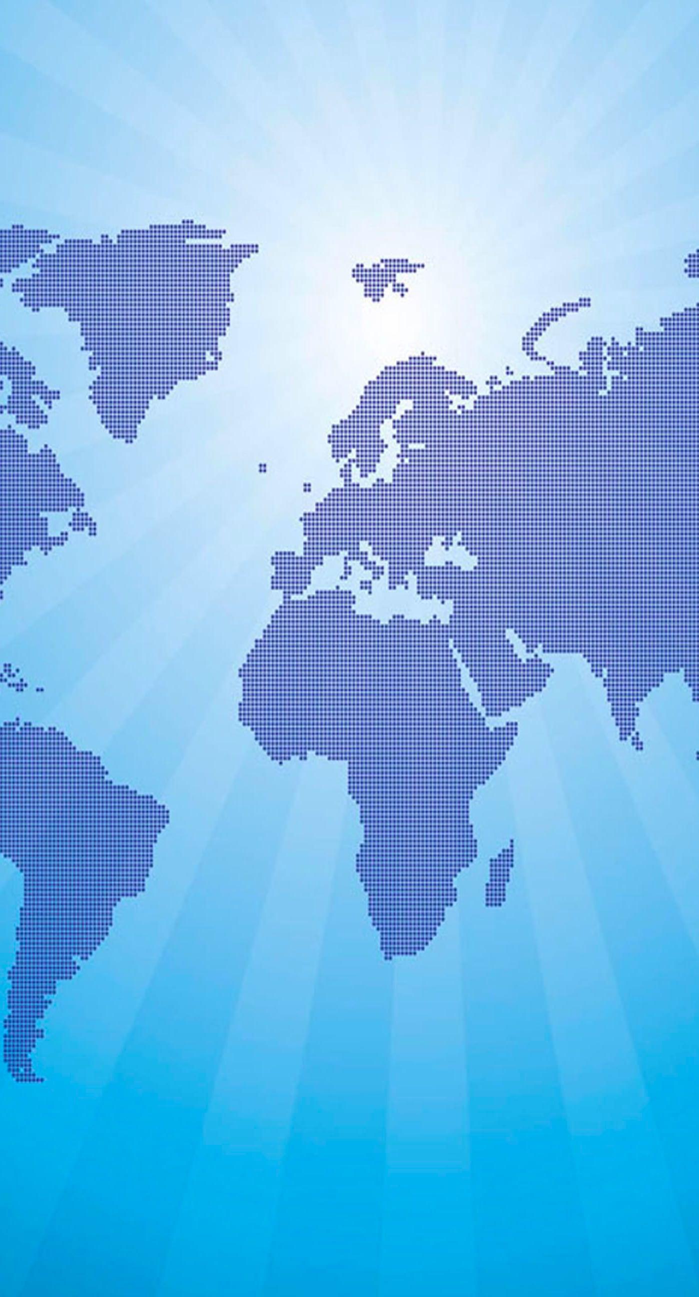 Illustration world map blue wallpaper iphone7plus world blue dot iphone7 plus wallpaper gumiabroncs Choice Image