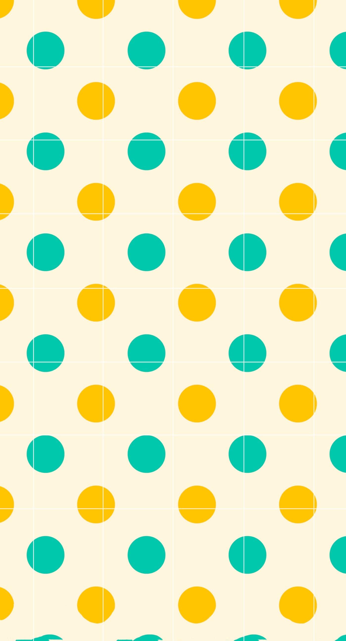 Polka Dot Green Orange Shelf Borders Wallpaper Sc Iphone7plus